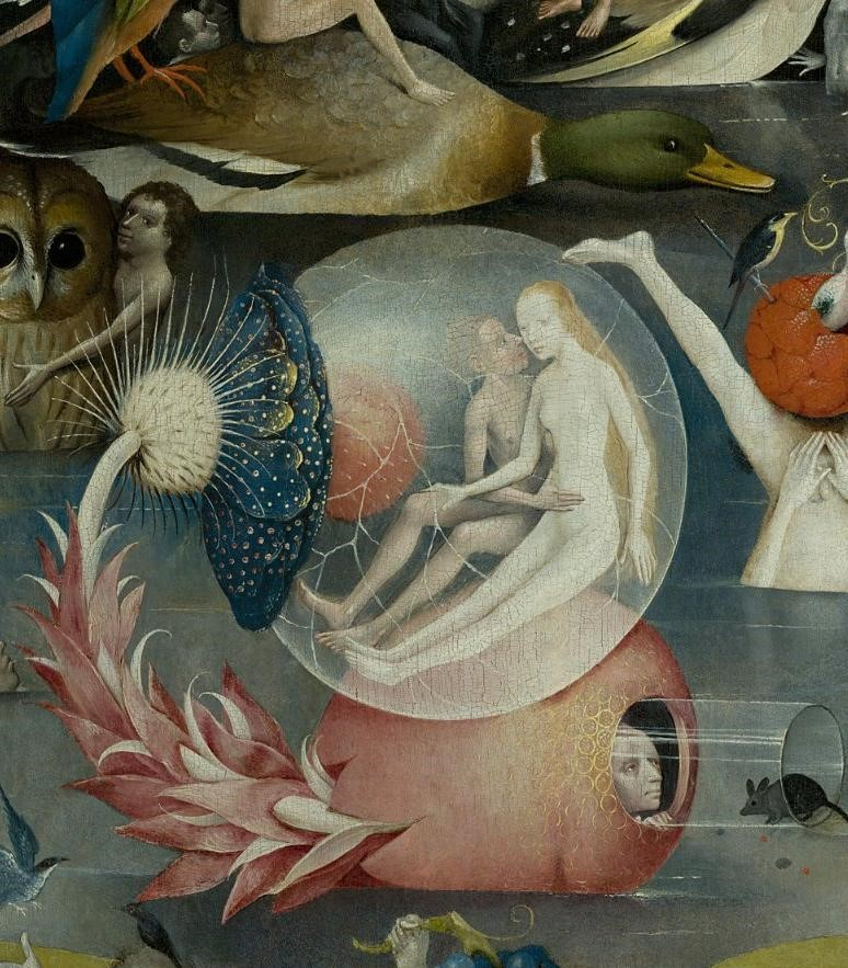 - - One small scene from Bosch's Triptych painting