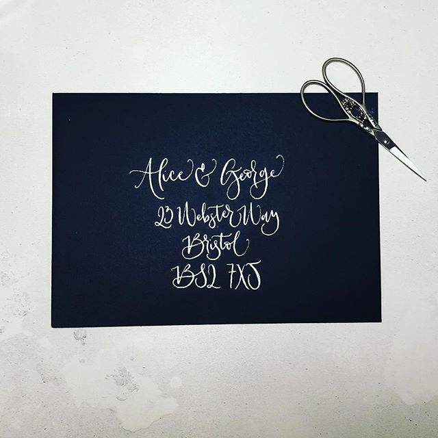 HOW I STARTED - Day 3 🤟🏻 . Calligraphy helped me recover from anxiety & depression. It made me realise what I wanted from my life and how doing something you love is what life's about! . I had 9 months off from my main job (as an accountant 🤓) in 2015 and I wanted to feel like I was doing something productive and useful. I have always loved creative things so after knitting a lot of dodgy jumpers I ordered a calligraphy starter kit from @calligraphyorg. From then I was hooked and started painting again and learning more about design fundamentals. That's truly when Delirium started although it was a few years later until I got the courage to put it all out there! 💜💜💜 . #calligraphyismagicmedicine #ukwscmtm #marchmeetthemaker #calligraphy #wedding #stationery #moderncalligraphy #weddingstationery #ukcalligrapher #findyourhappy #mentalhealth #calligraphyenvelope #envelope #weddingenvelope