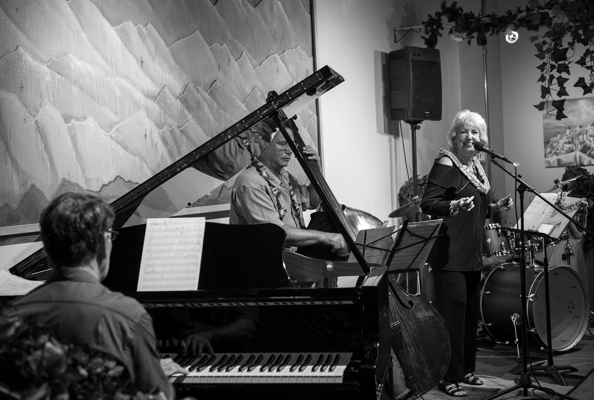 Shari Lynn (vocals) accompanied by Jim Howard (piano) and John Kolivas (bass)