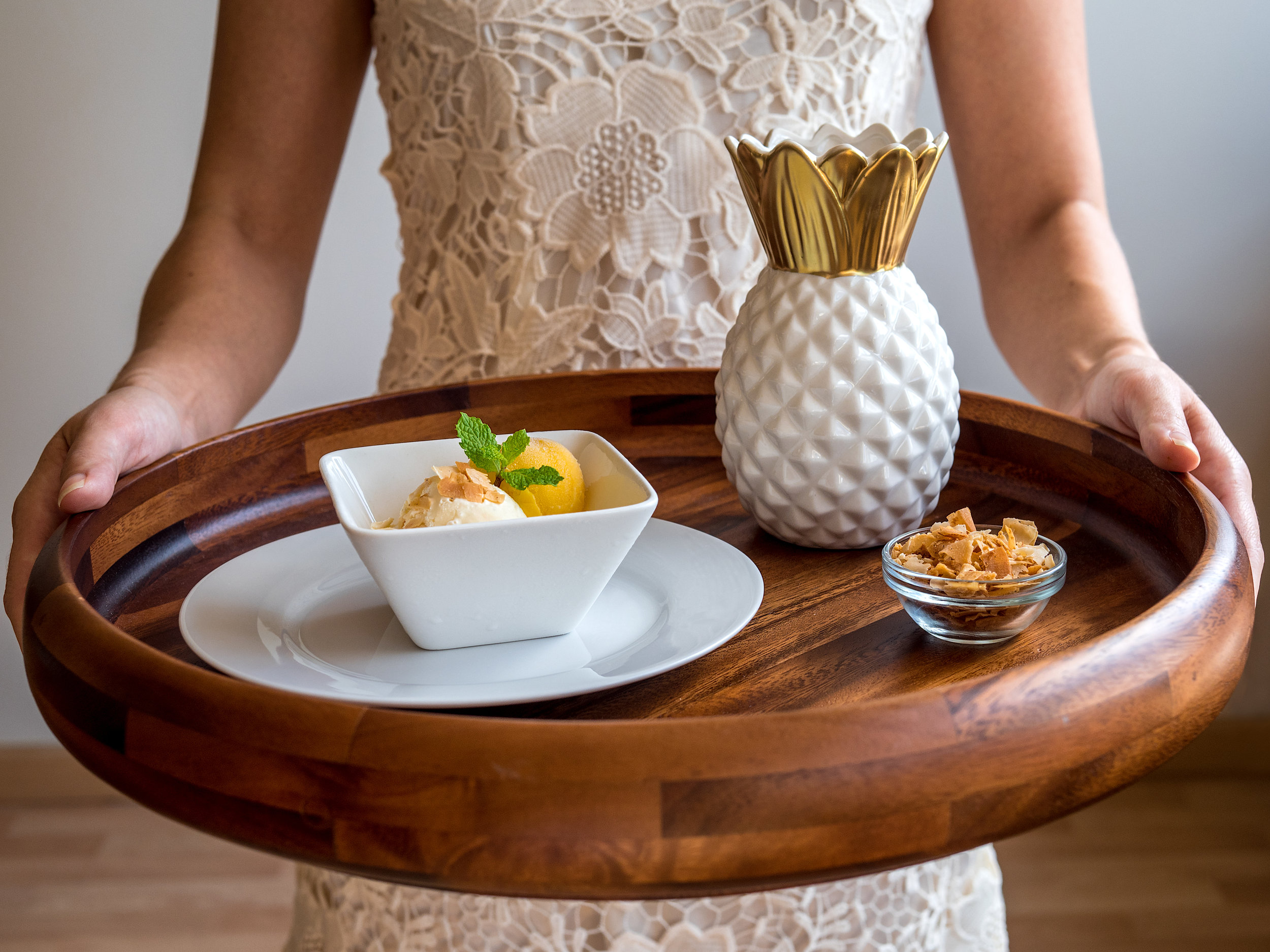 A Royal Hawaiian Mother's Day - Toasted Coconut Ice Cream and Mango Sorbet