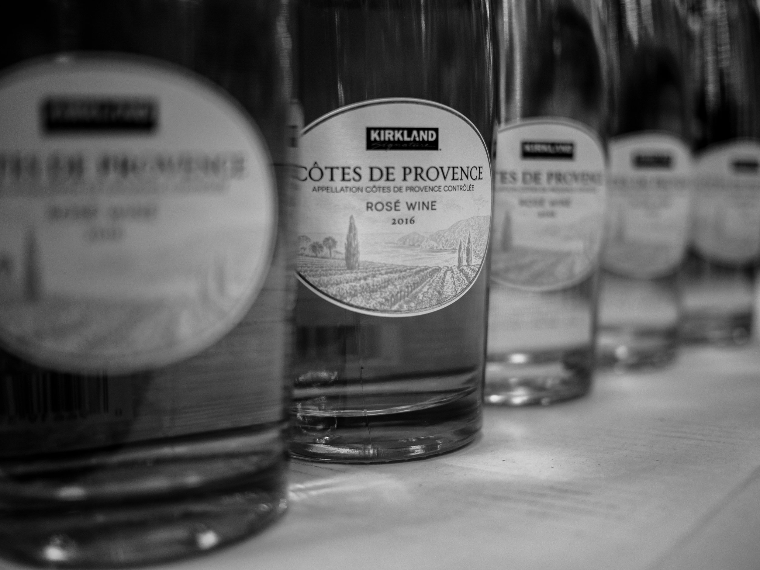 Musings by the Glass - Costco Corner - Black and White Kirkland Rose Bottles