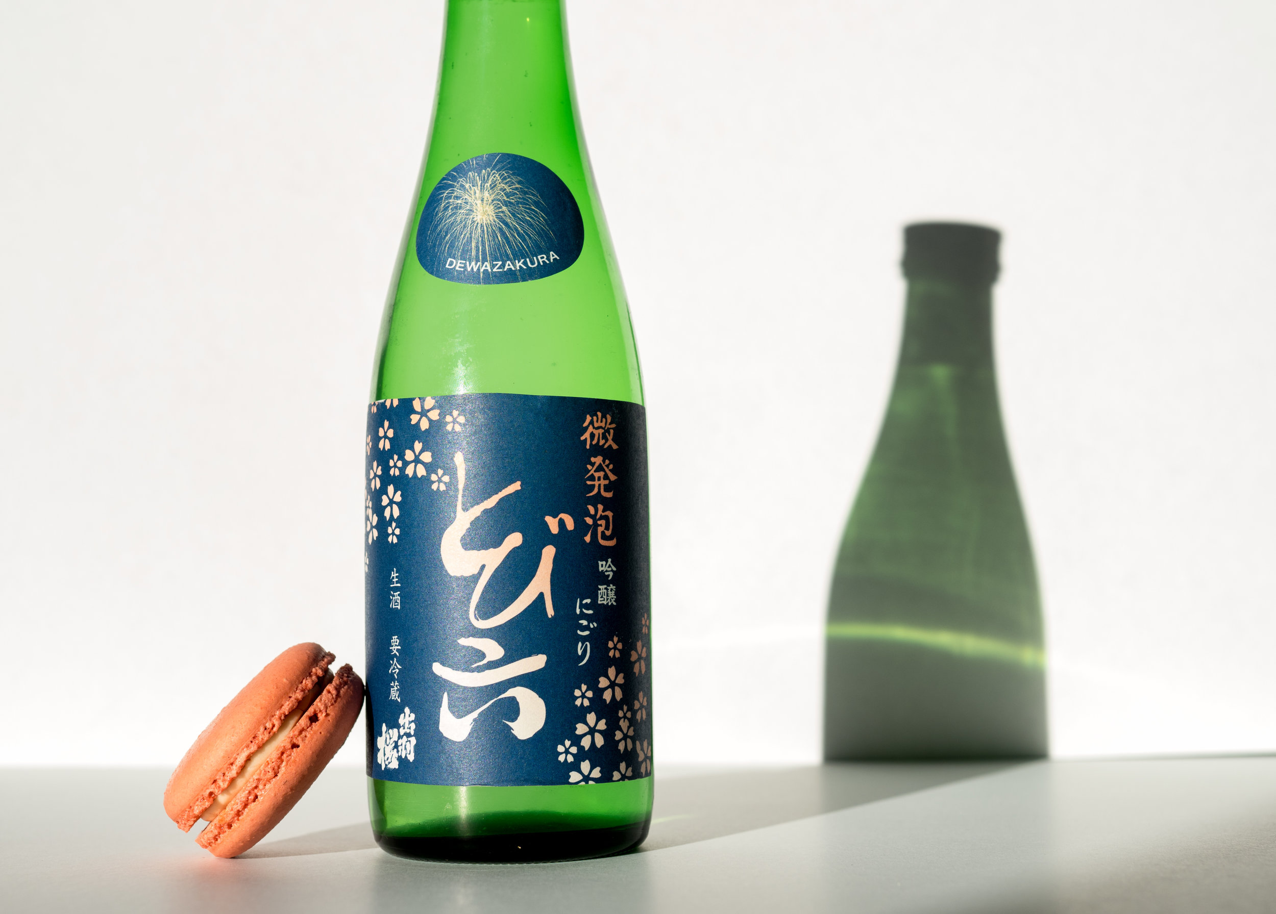 Musings by the Glass - Sake-Confection Hypothesis - Macarons and Sparkling Sake