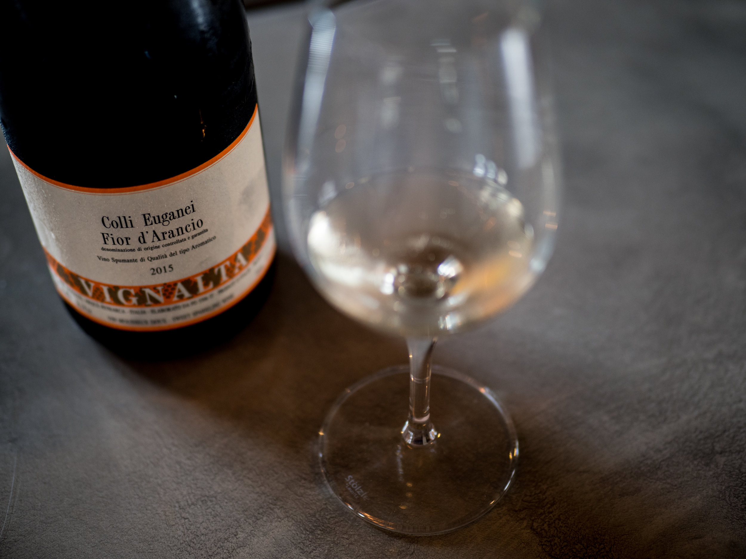 Musings by the Glass - The Nightcap Corollary - Vignalta Fior a'Arancio Orange Muscat