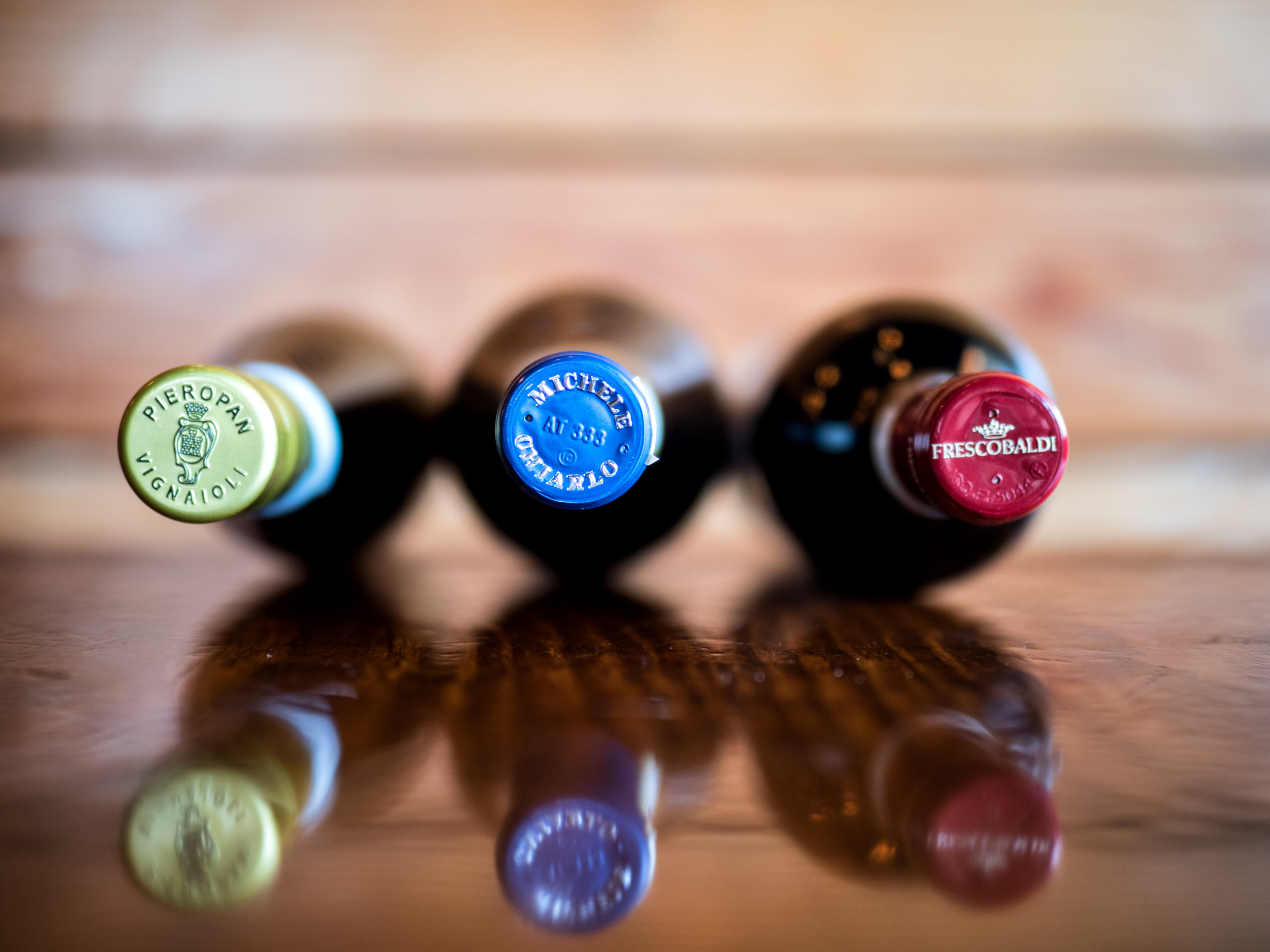 Musings by the Glass - Deductive Challenge - Three Italian Amigos Wine Bottles