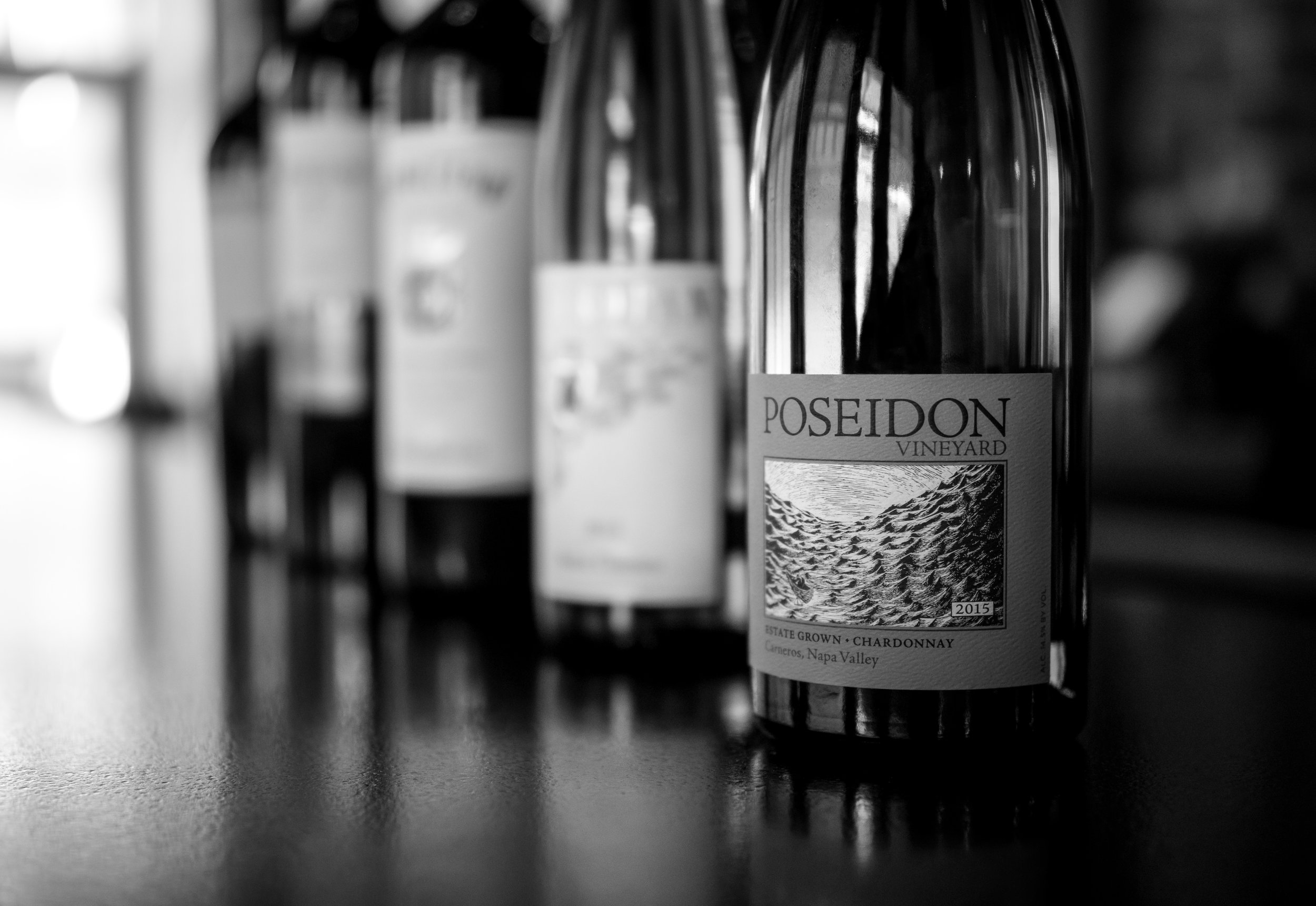 Musings by the Glass - Deductive Challenge - Blind Tasting Wines Black and White