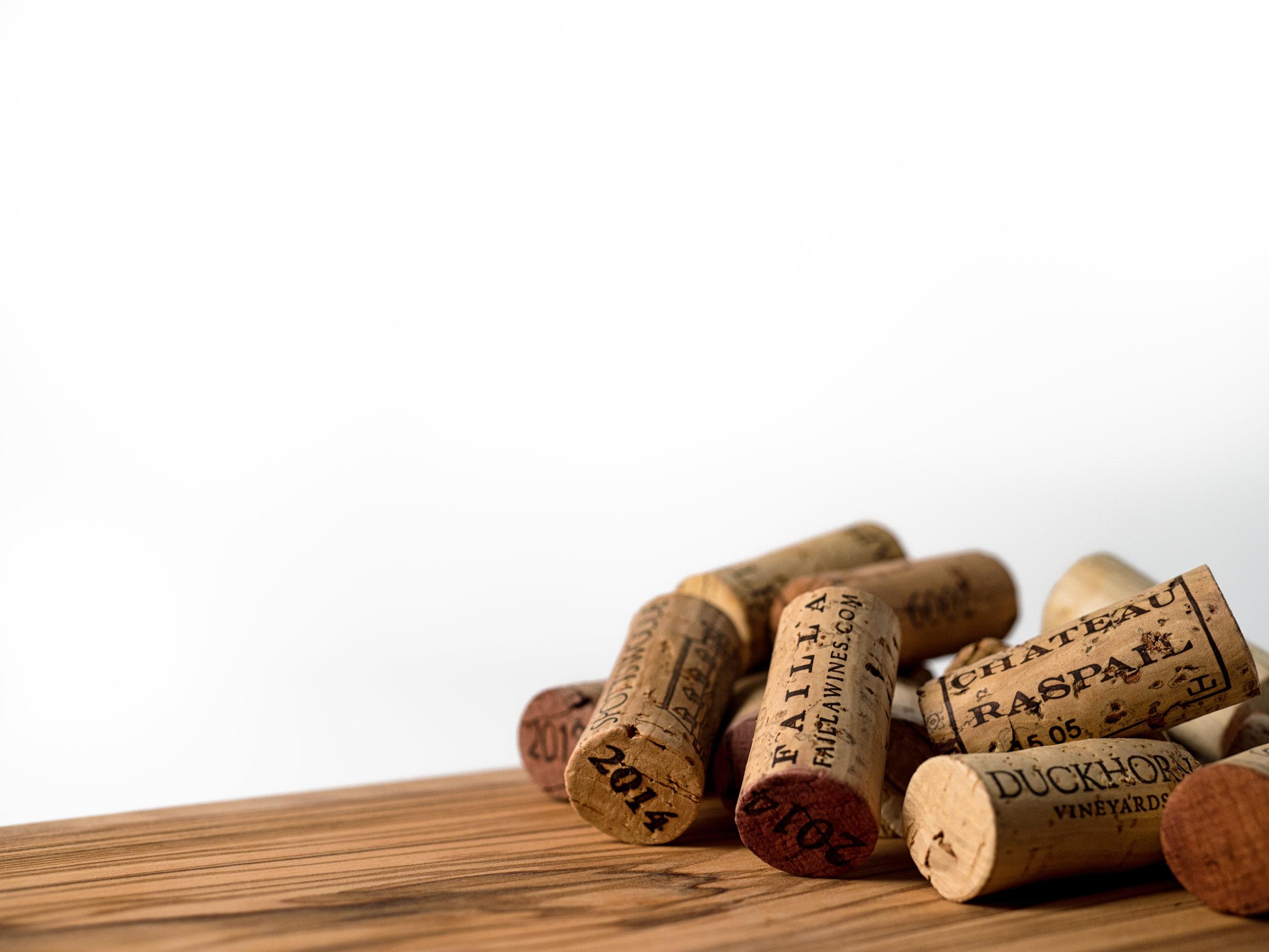 Musings by the Glass - Cork vs Screw Cap - Pile of Corks