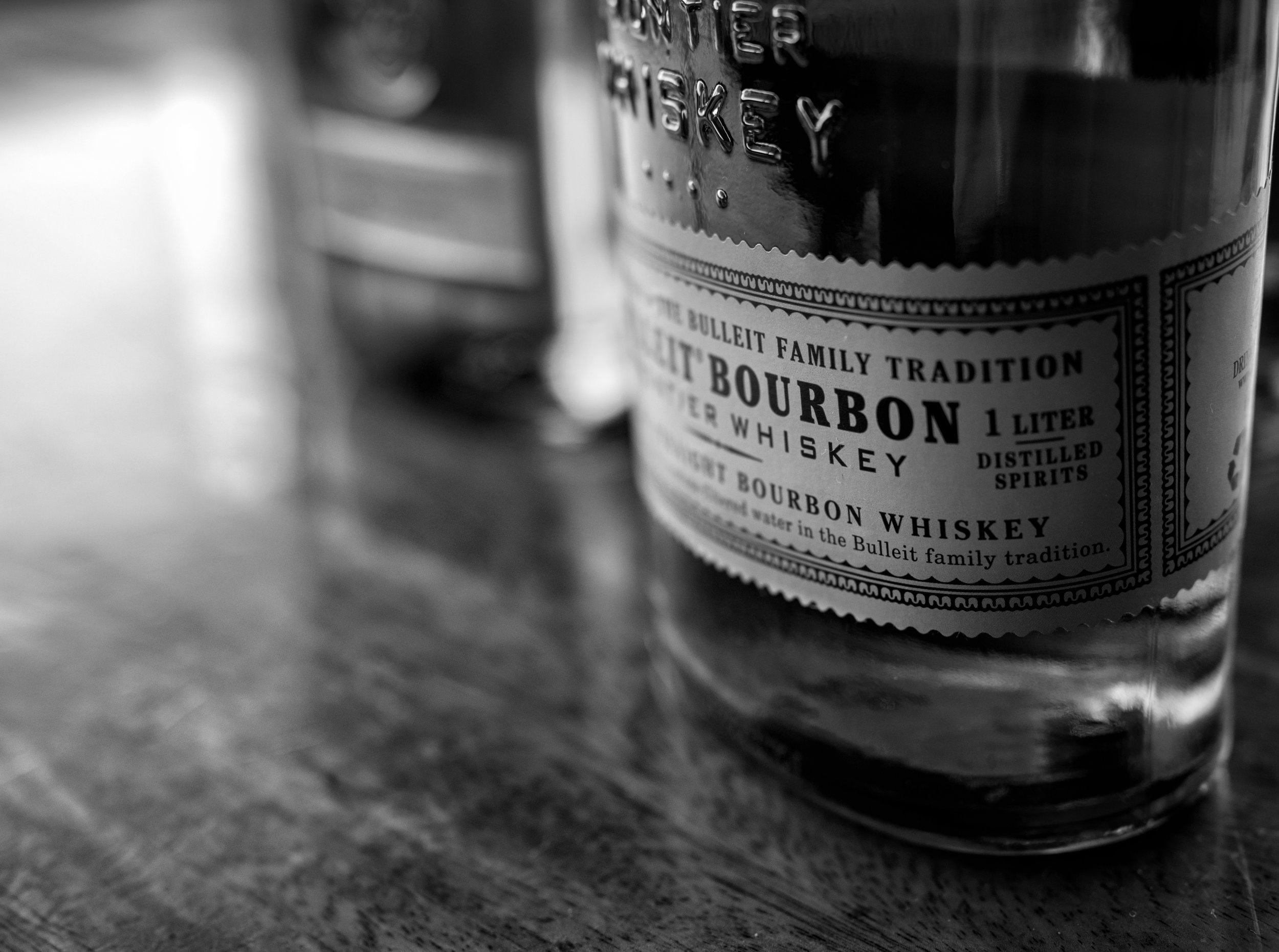 Musings by the Glass - Autumn Whiskey Primer - Black and White Bulleit Bourbon Whiskey