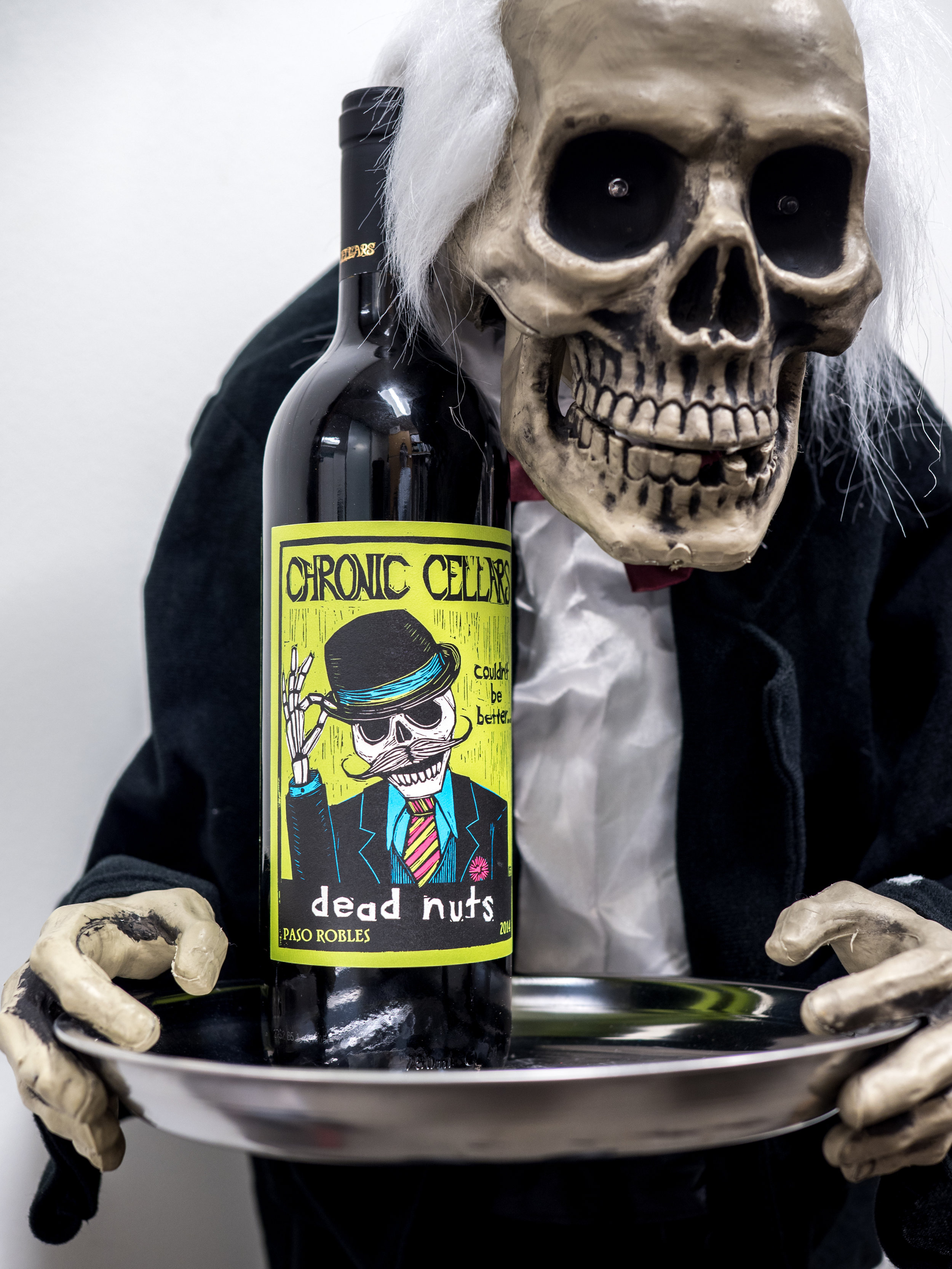 Musings by the Glass - Tips and Recommendations for Spooky Wines for your Halloween Party - 2014 Chronic Cellars Dead Nuts Red Blend Paso Robles California