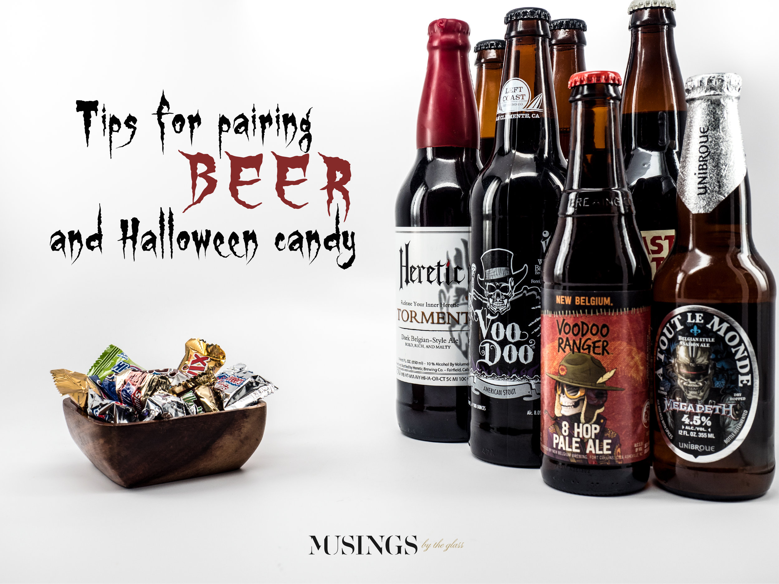 Musings by the Glass - Pairing Beer with Halloween Candy - The Barley-Confection Synthesis Beer Lineup