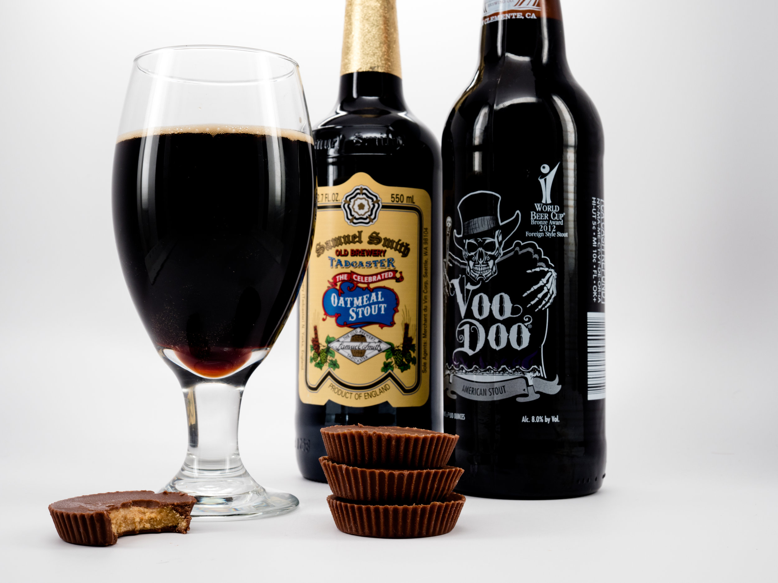Musings by the Glass - Pairing Beer with Halloween Candy - Reese's Peanut Butter Cups and Left Coast Voo Doo American Stout