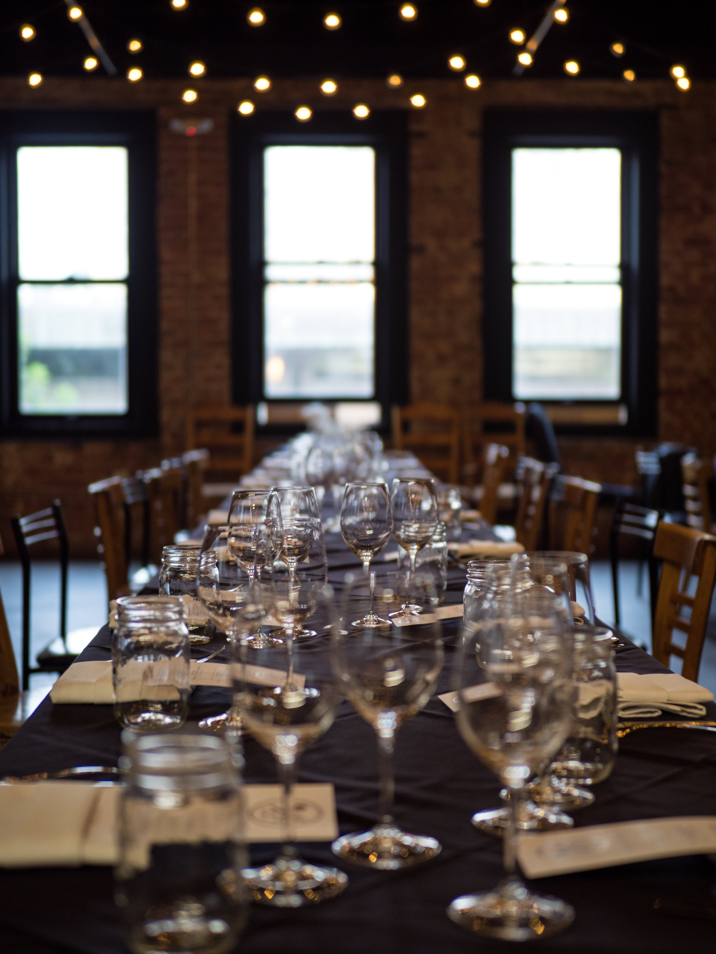 Musings by the Glass - Pig and the Lady Ho Farms Dinner - Dinner Table