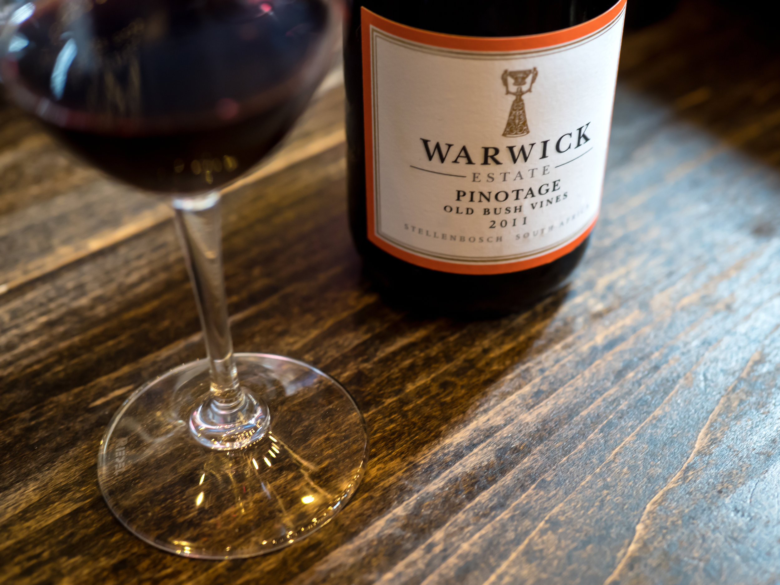 Musings by the Glass - Pig and the Lady Ho Farms Dinner - Warwick Pinotage South Africa