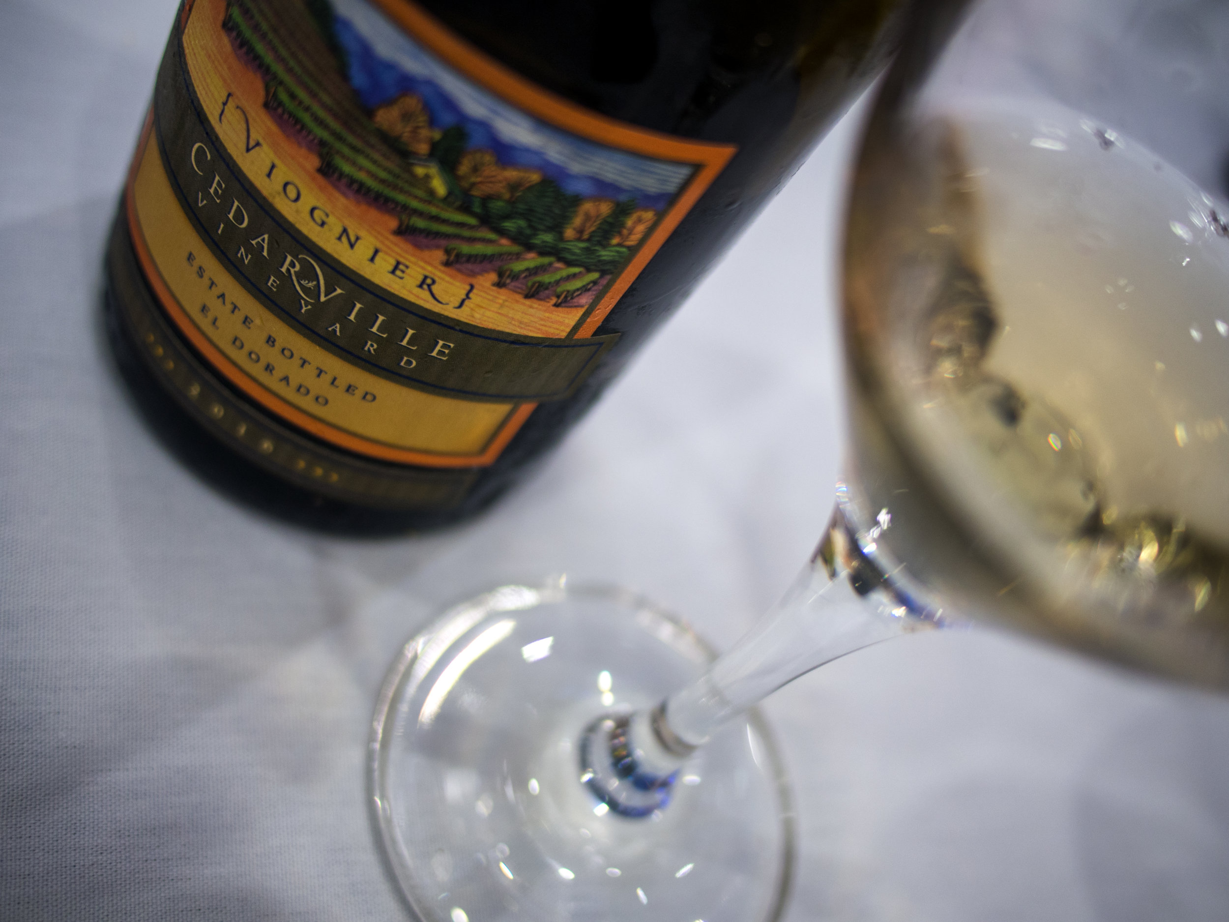 Musings by the Glass - Wines from Wine Bloggers Conference - Cedarville Vineyard Viognier El Dorado California