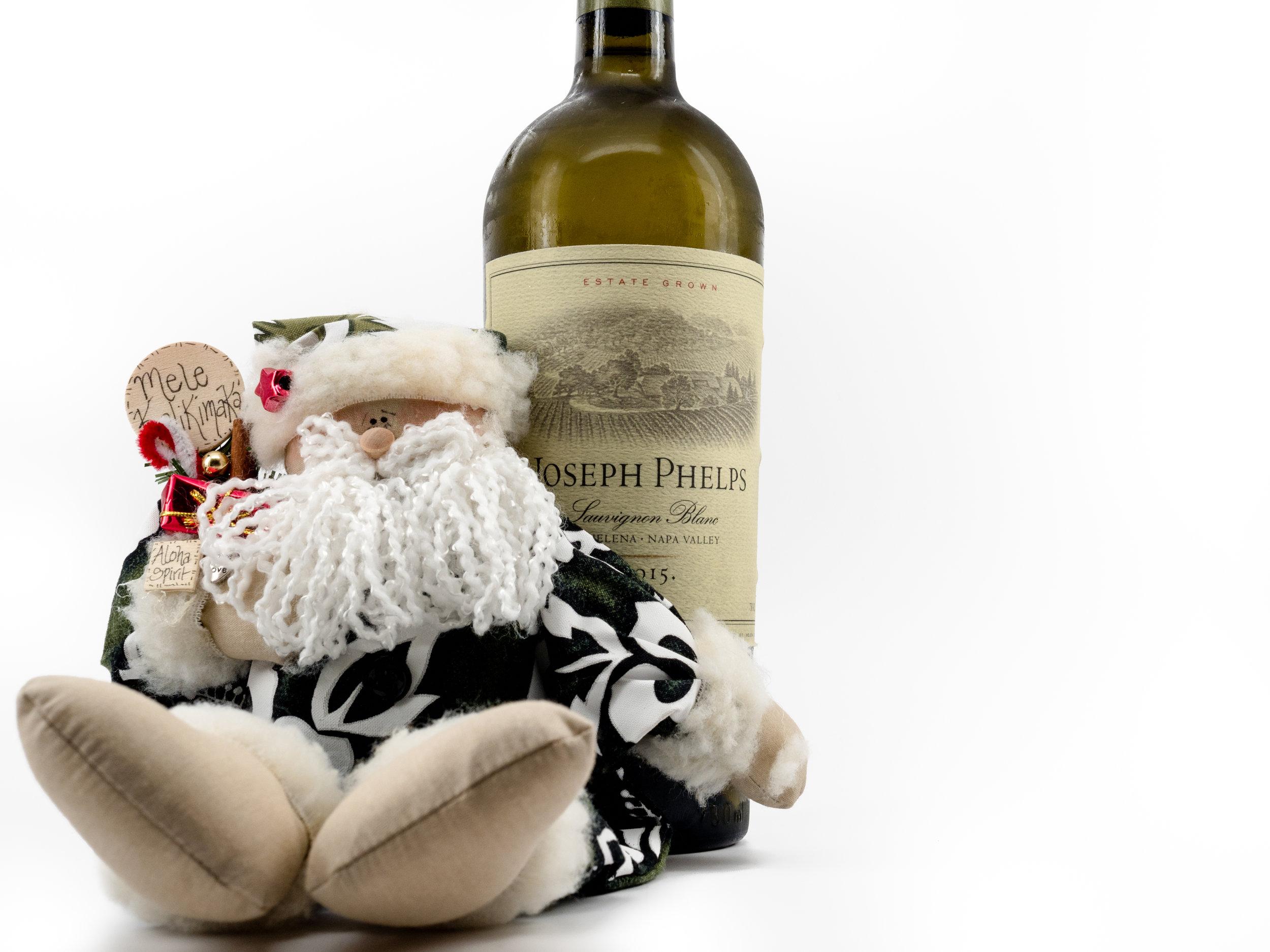 Musings by the Glass - Mele Kalikimaka - Hawaiian Christmas Music and Wine Pairings - Santa Loves 2015 Joseph Phelps Sauvignon Blanc from Napa Valley California