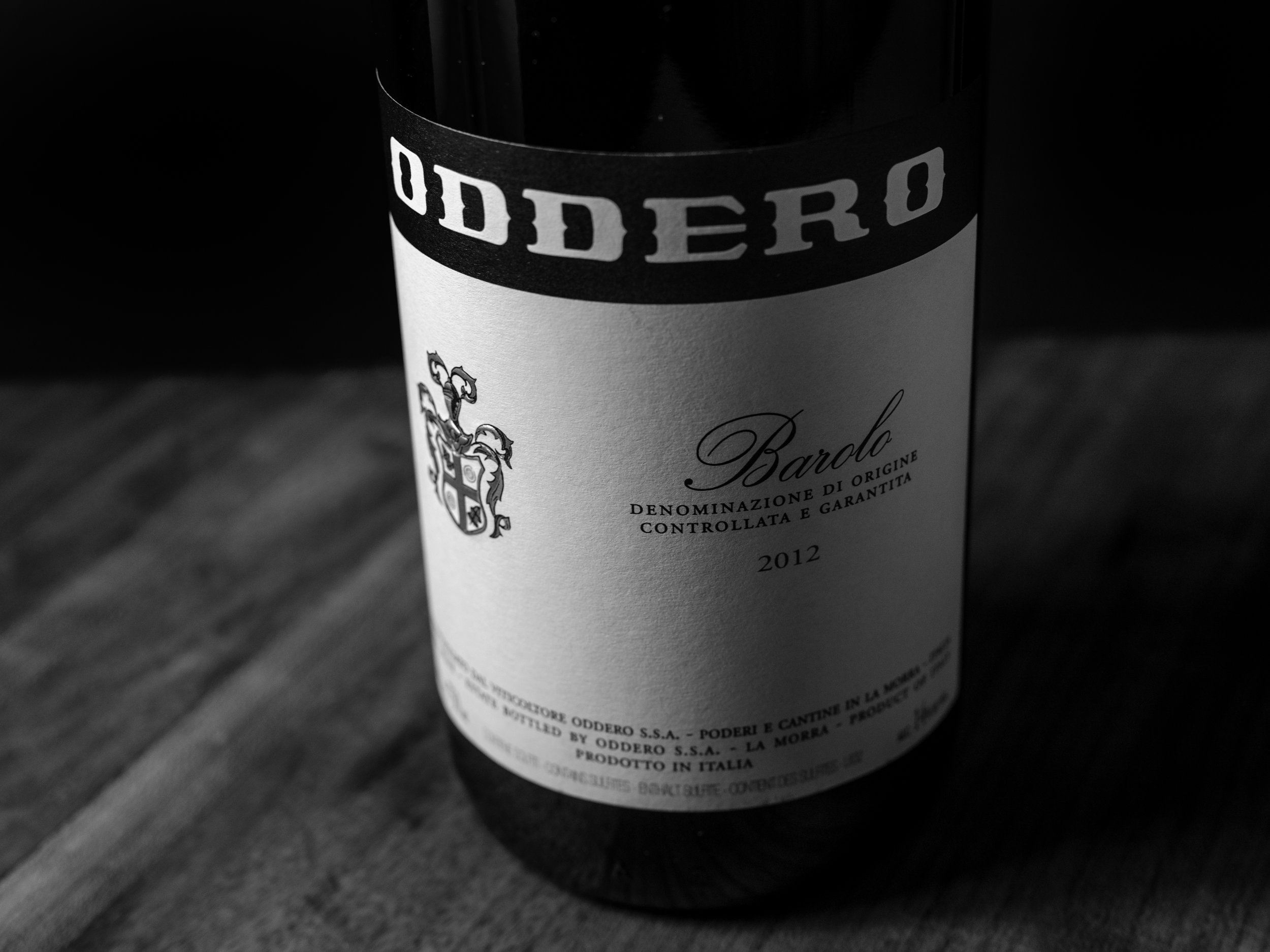 Musings by the Glass - Vino Pairing Optimization - Oddero Black and White