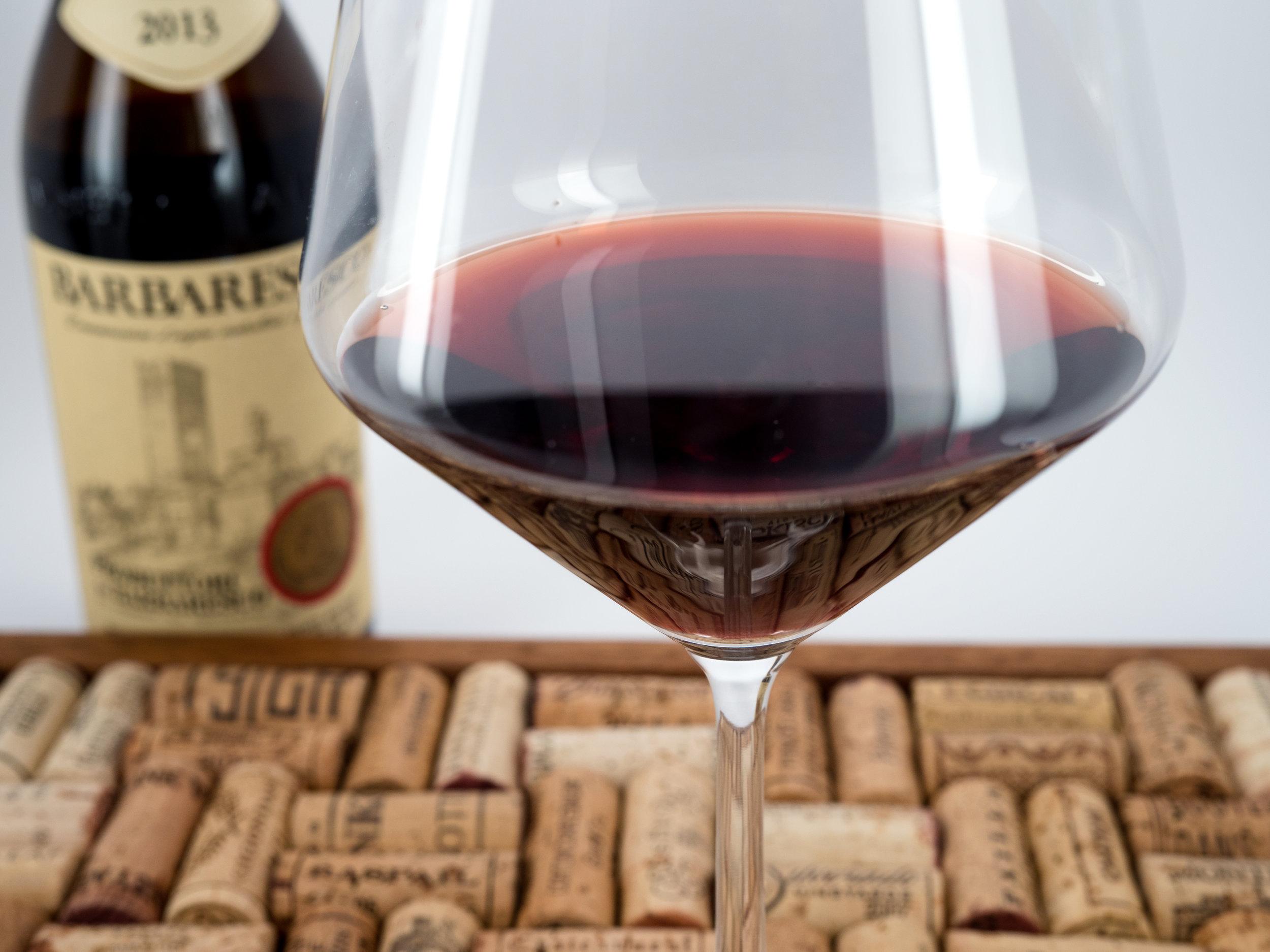 Musings by the Glass - Vino Pairing Optimization - Barbaresco Cork Reflections
