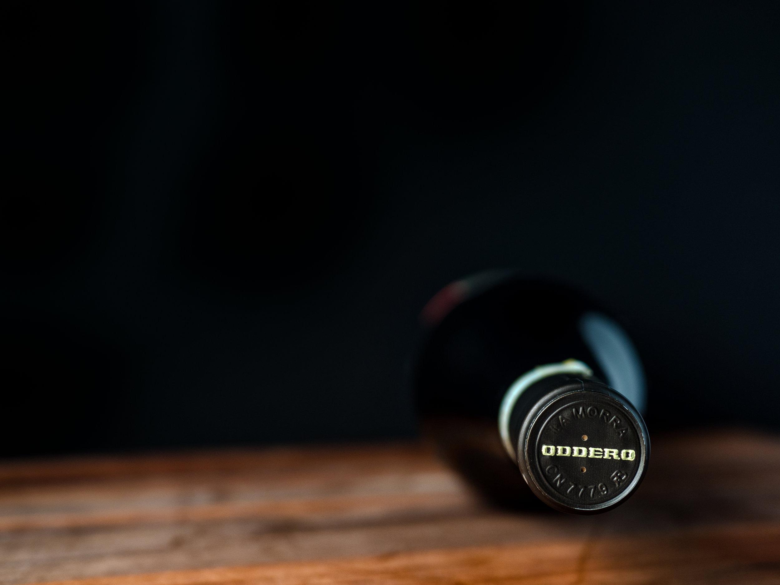 Musings by the Glass - Vino Pairing Optimization - Oddero Horizontal Bottle