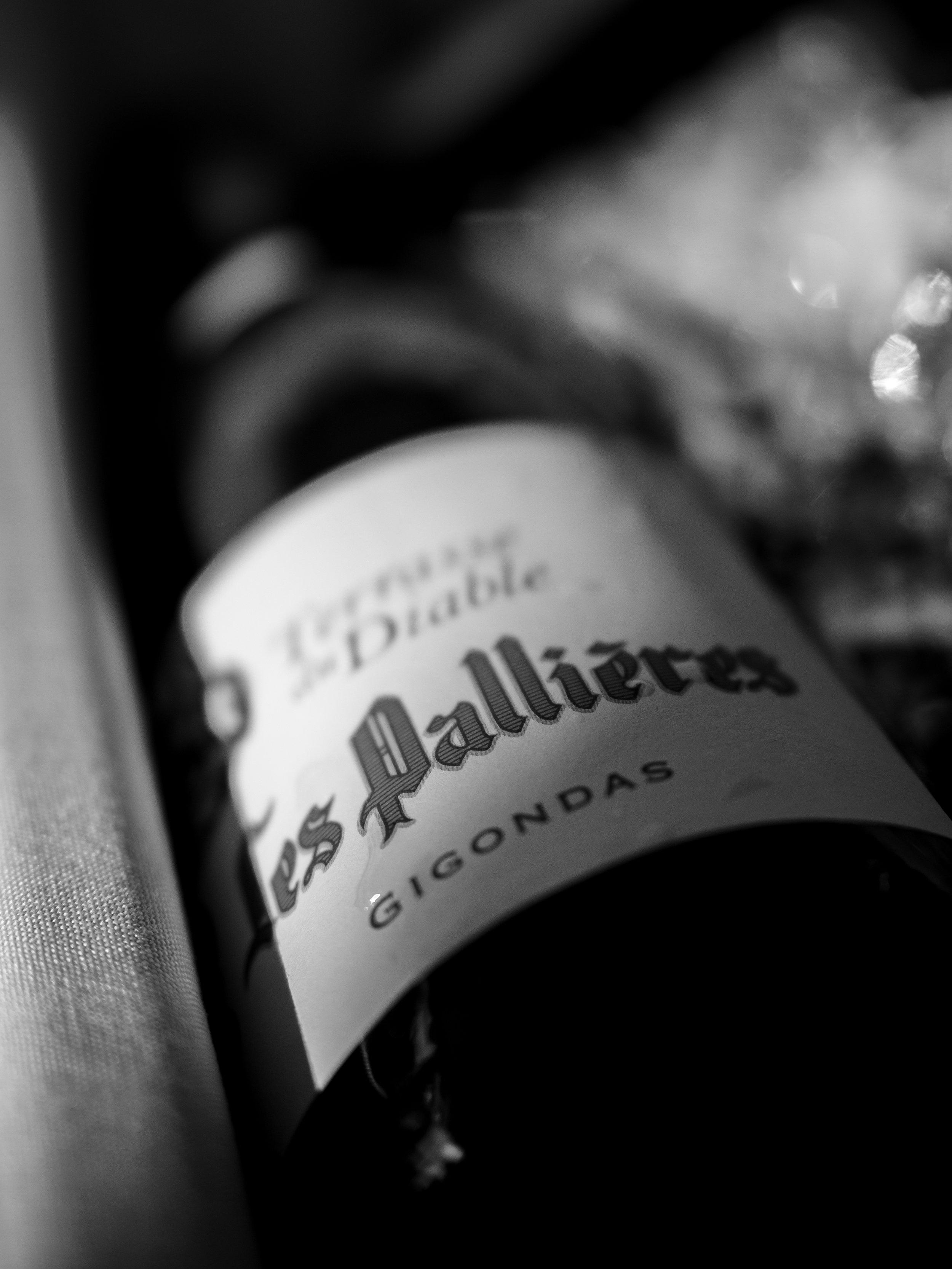 Vinous Label Elucidation - Decoding Rhone Valley Wine Lavels - Gigondas Black and White