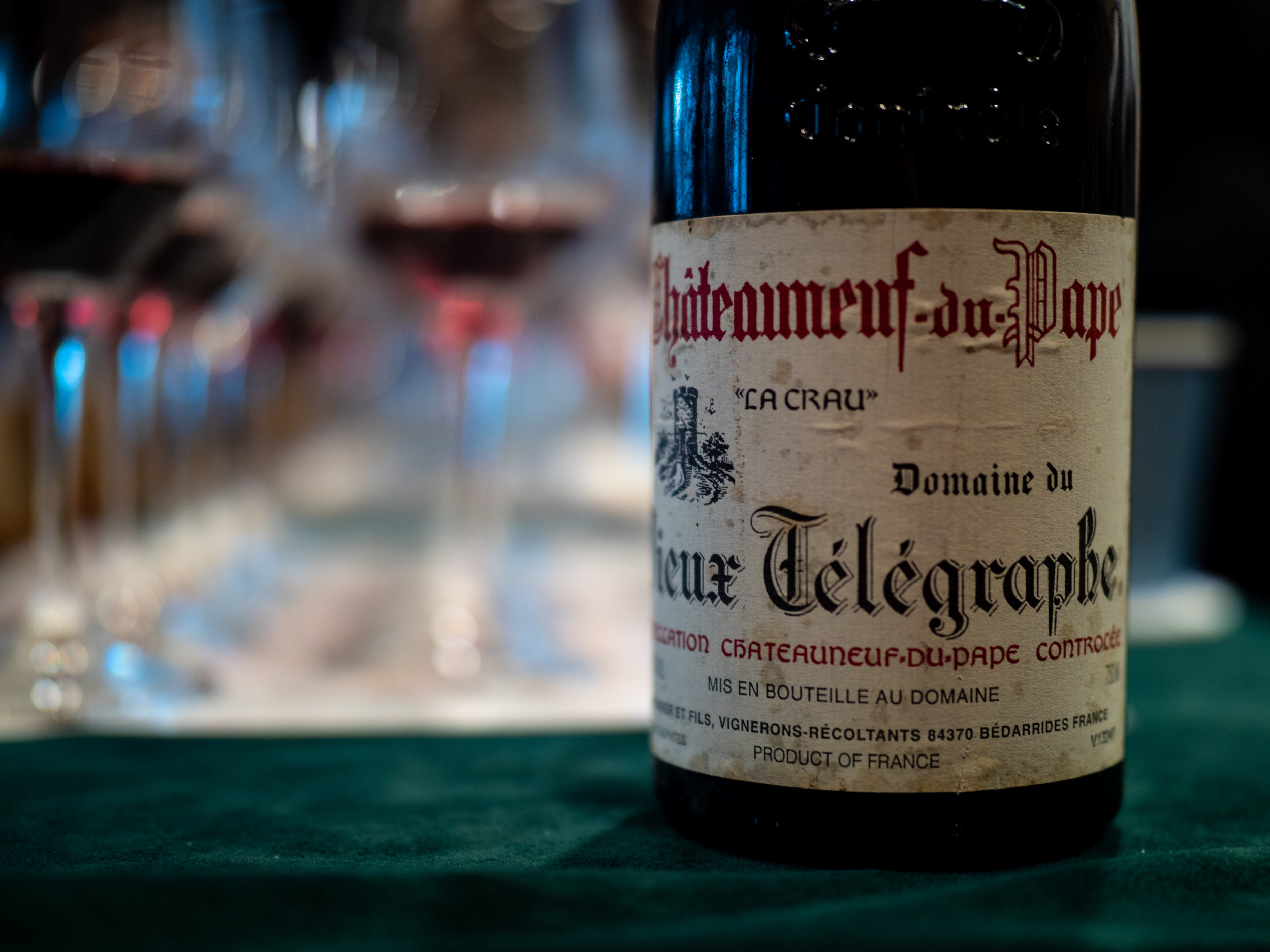 Vinous Label Elucidation - Decoding Rhone Valley Wine Lavels - Vieux Telegraphe from Chateauneuf-du-Pape