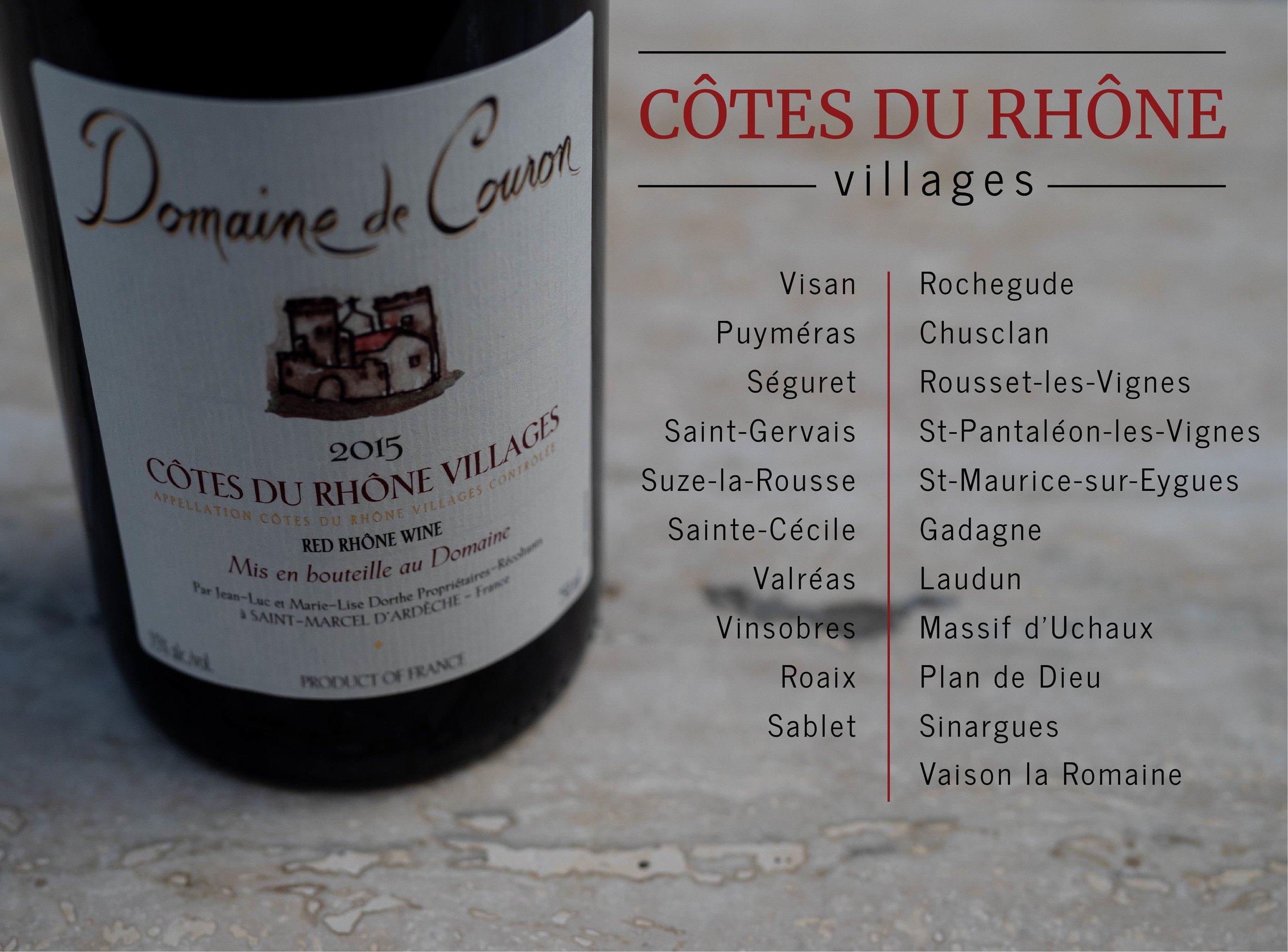 Wine Label Elucidation - Decoding Wine Labels of Southern Rhone Valley - Cotes du Rhone Villages
