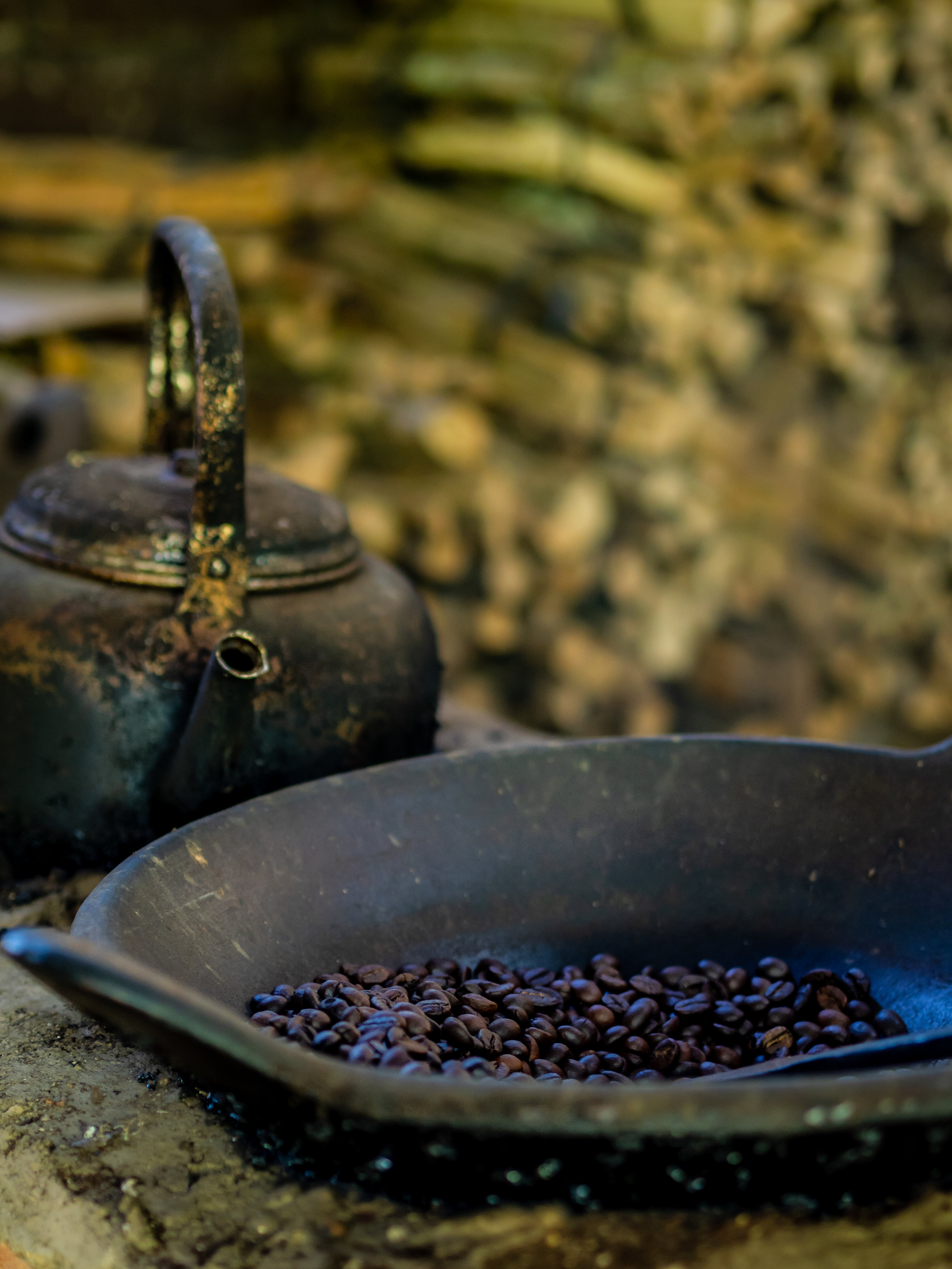 Musings by the Glass - Cat's Tale of Kopi Luwak - Time to Roast the Coffee Beans