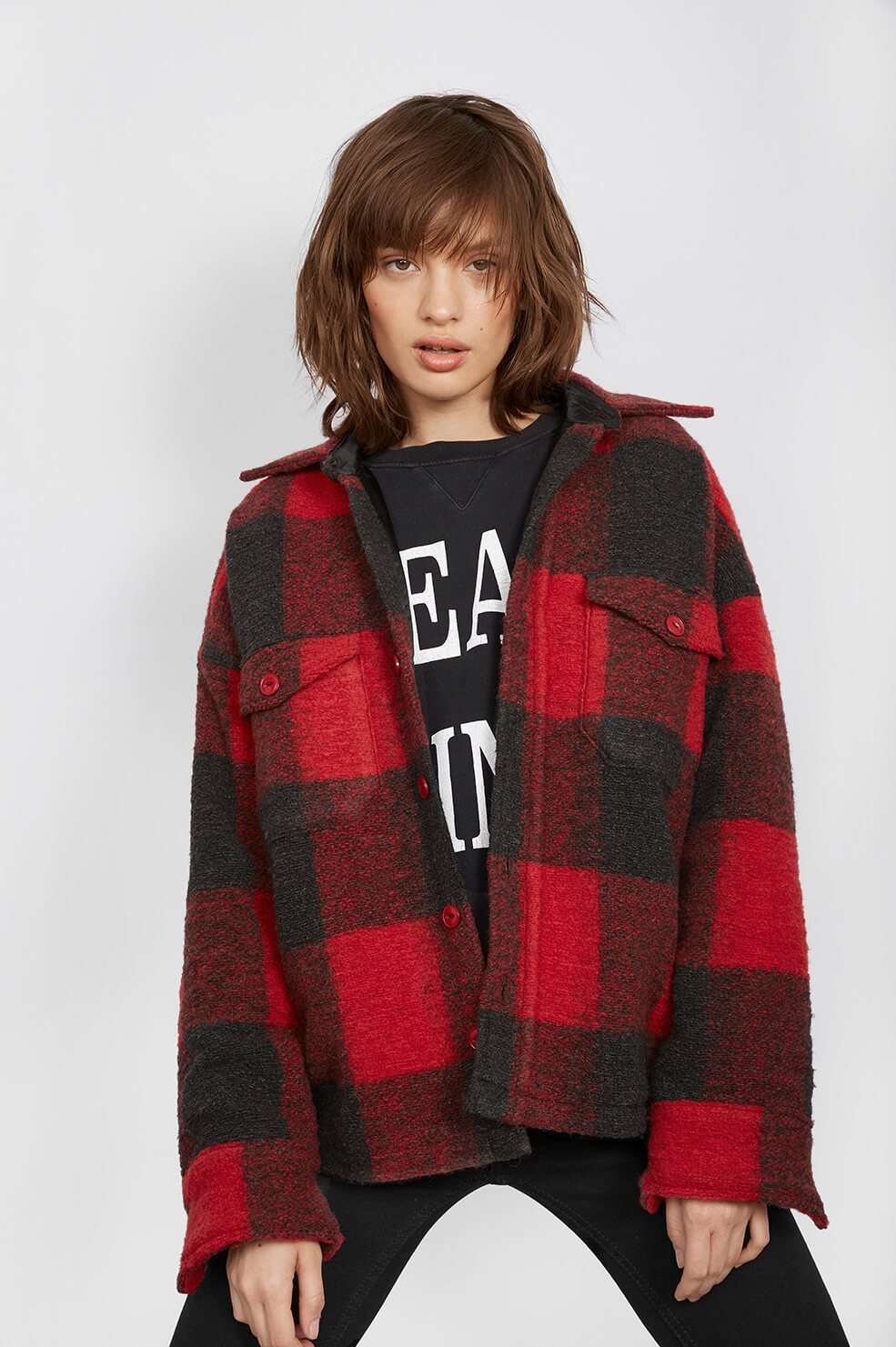 6.  Anine Bing Bobbi Flannel Jacket  - $299