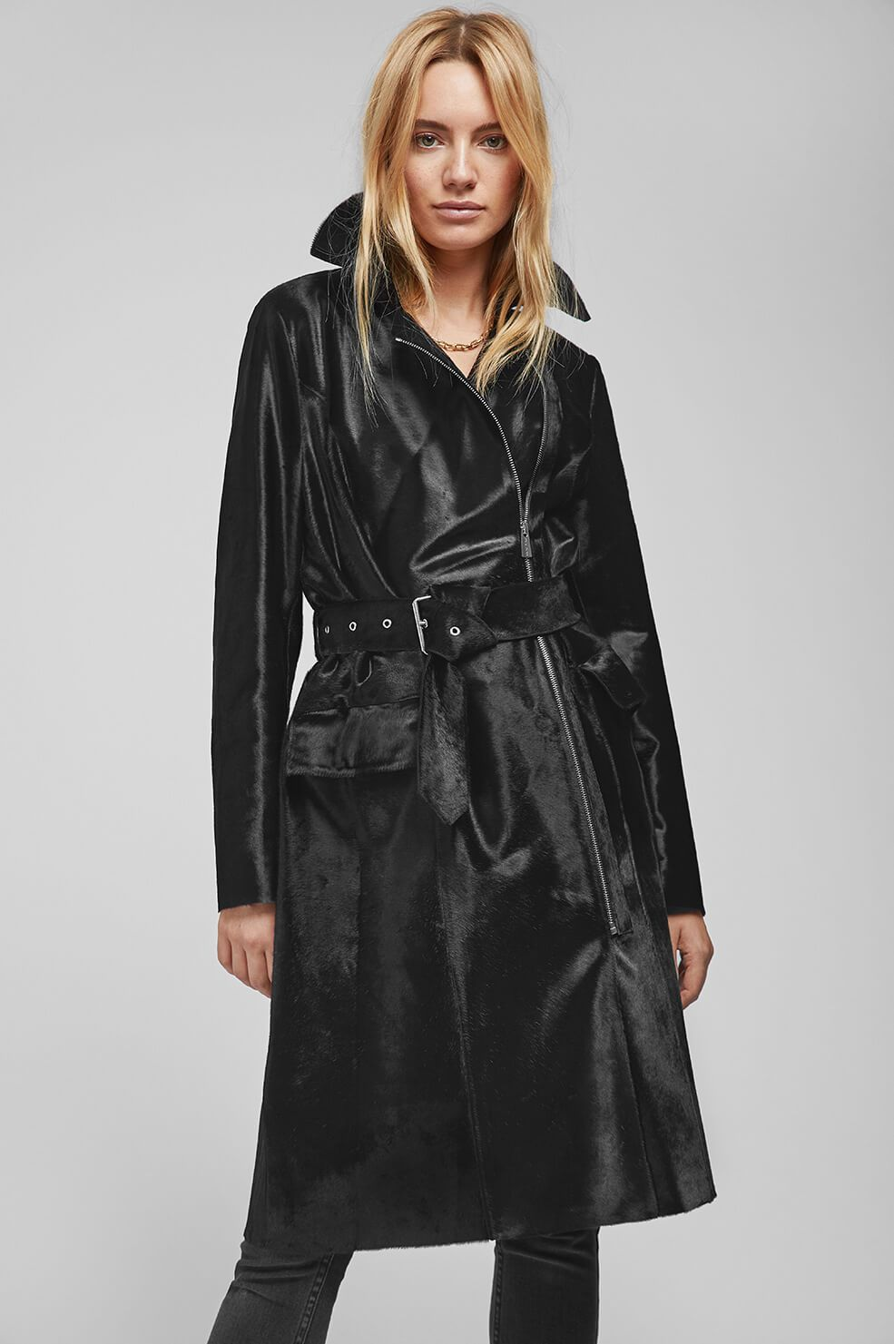 11.  Anine Bing Maxwell Leather Trench  - $1,999