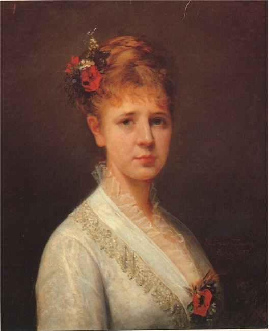 Jeanne Pauline Adolphine Marie Verrue - Madame Mauri.  My great-great-grandmother, Nini's mother who passed away not long after childbirth.  This is a portrait by renown Venezuelan artist, Martin Tovar y Tovar.