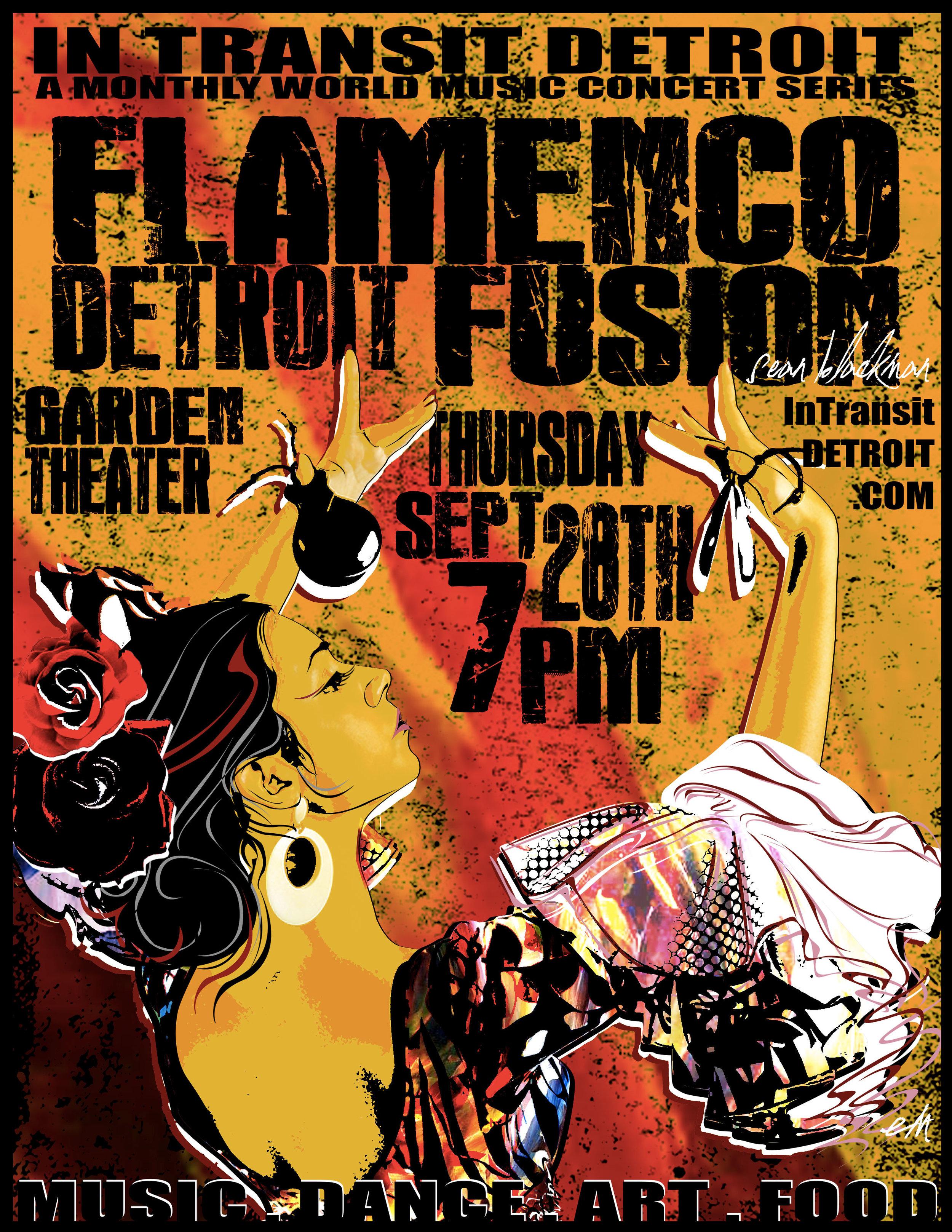 SEPTEMBER ~ SPAIN    Flamenco Detroit Fusion