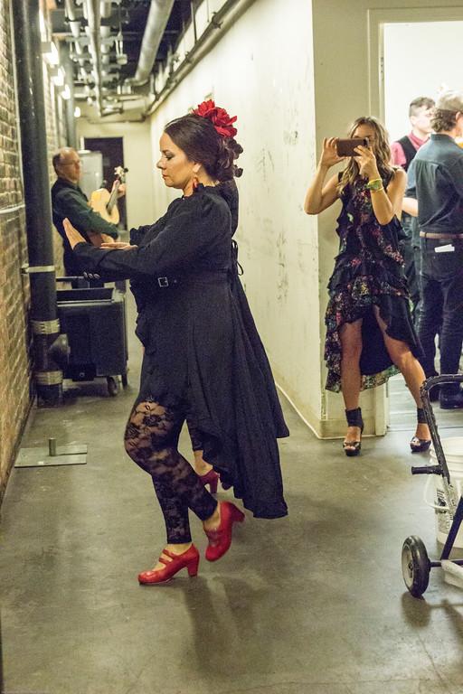 Flamenco Detroit Fusion. Sean Blackman's In Transit Detroit. BACKSTAGE