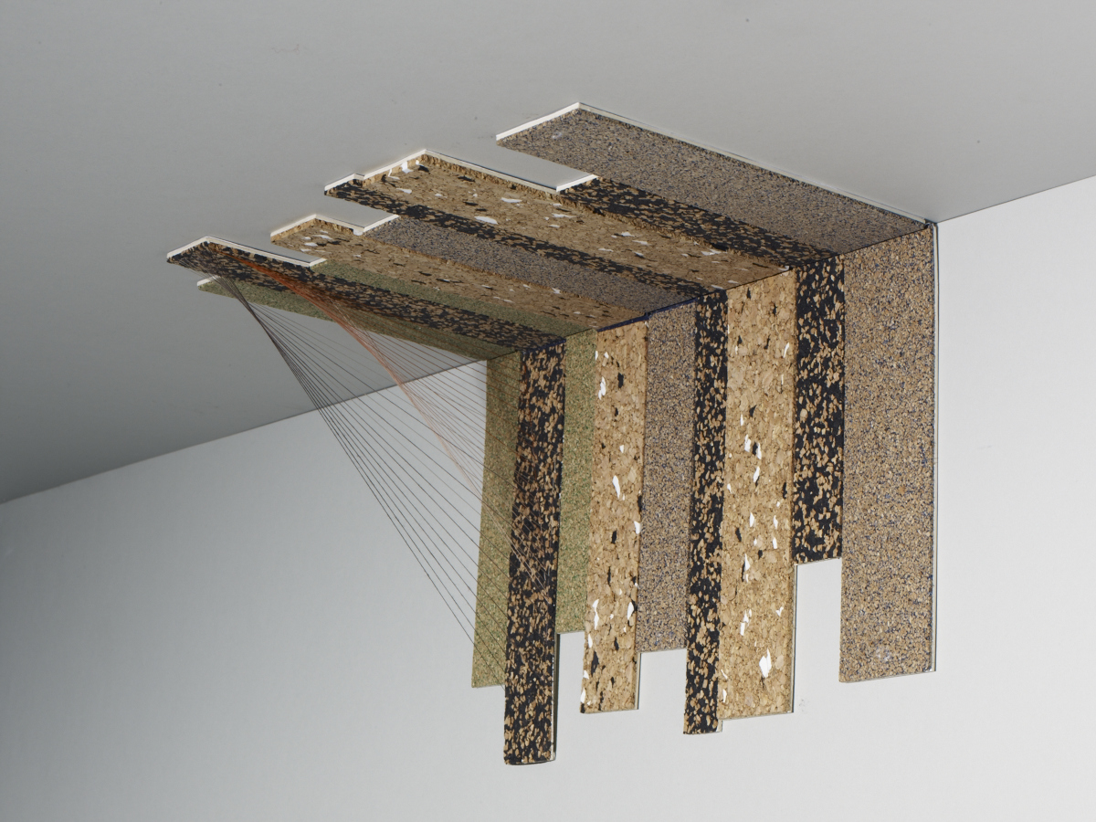 Panels that can be closed and hidden away in a ceiling. Image:  Michael Bodiam.