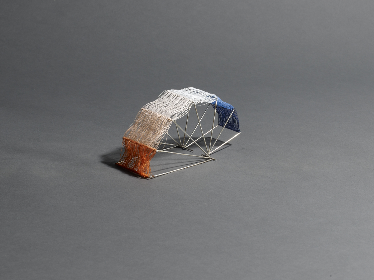 Just playing around with string in a collapsible silver 'scaffolding'. Image:  Michael Bodiam.