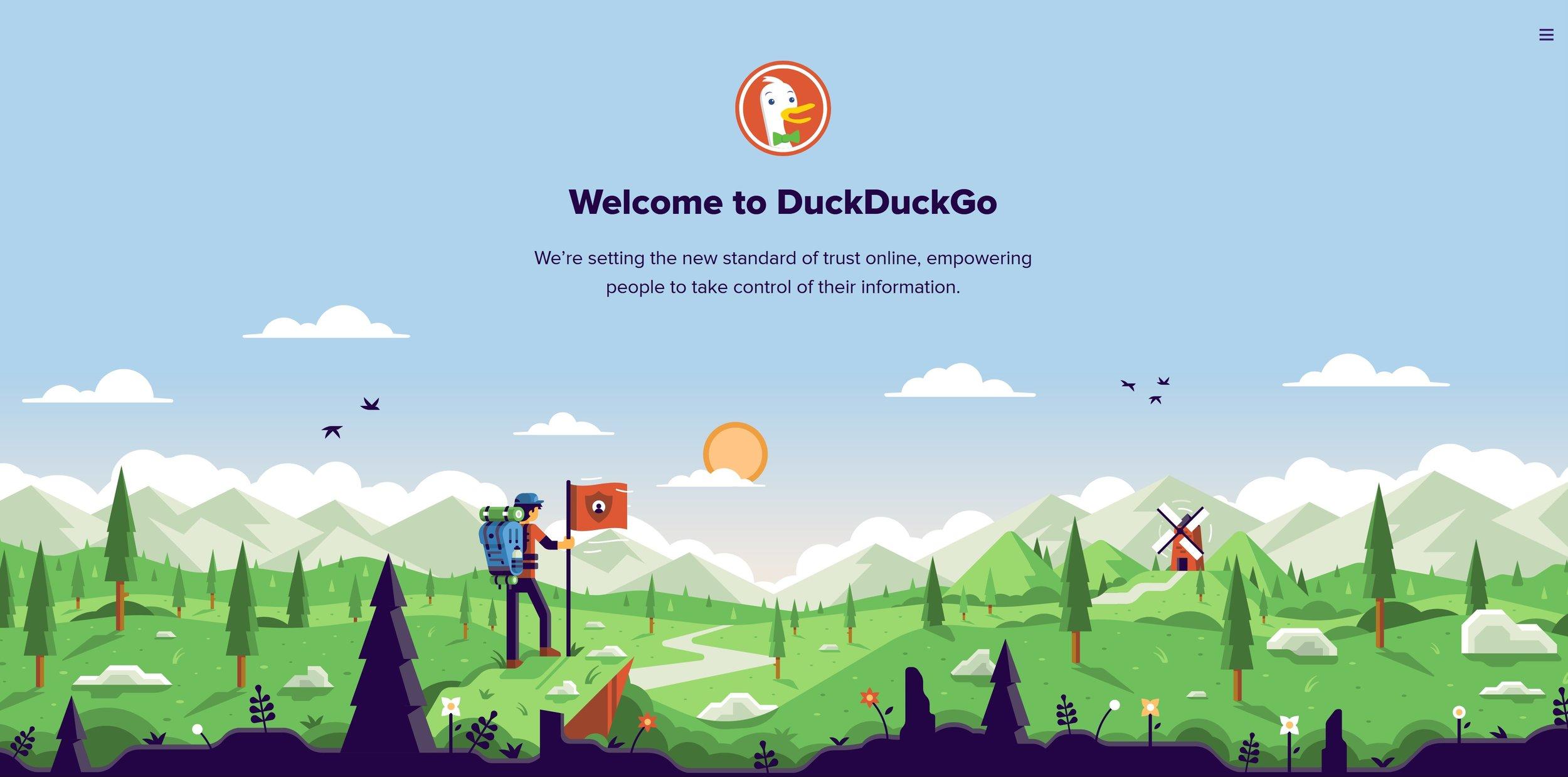 Welcome to DuckDuckGo - Screenshot