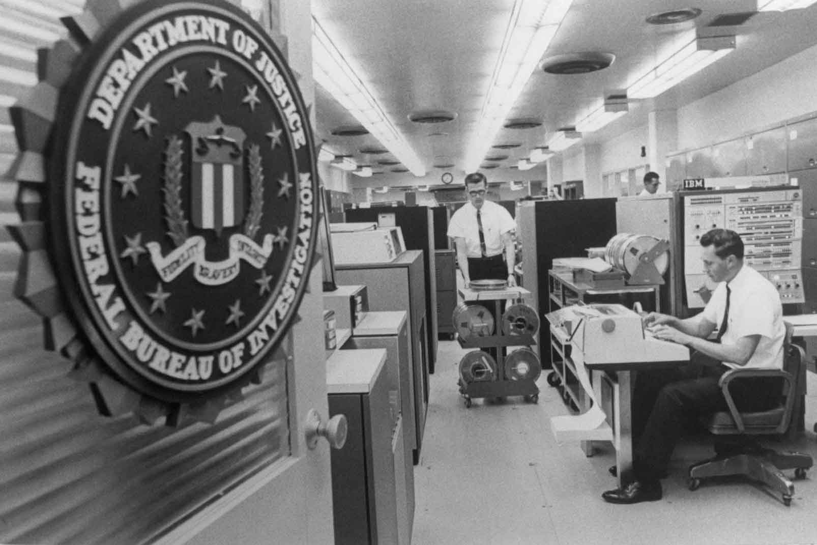 A view of the F.B.I. National Crime Information Center in Washington in 1967. In the 1960s, lawmakers began to question the government's gathering of Americans' data. Photo: Bettmann, via Getty Images