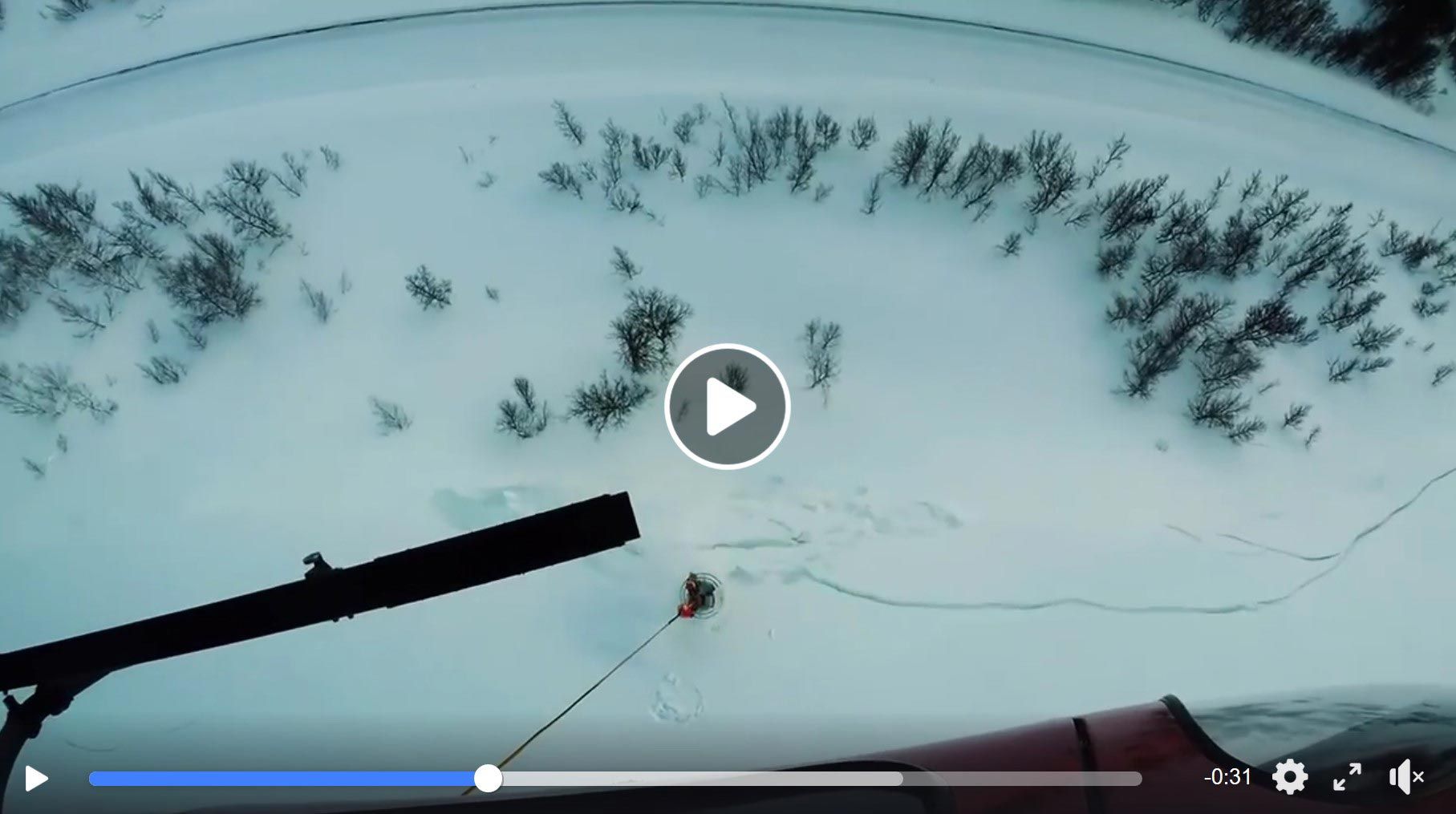 """American Avalanche Association: """"We could watch clips of this all day… The DaisyBell by TAS of the MND Group is a mobile remote avalanche control system (RACS) carried by helicopter. It emits a blast from an exploding mix of hydrogen/oxygen gas and has 50 to 70 shots before refilling.  Video on Facebook  »"""