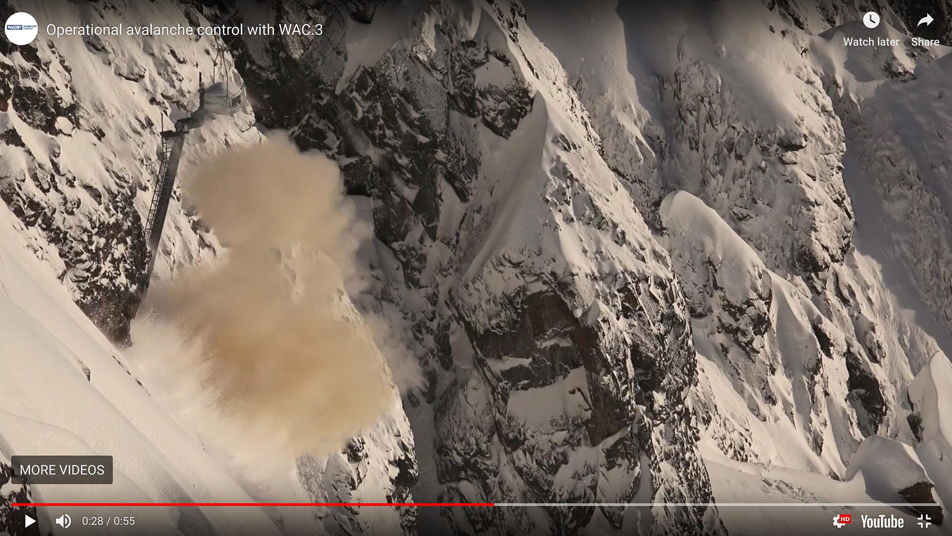 Wyssen Operational Avalanche Control with WAC3