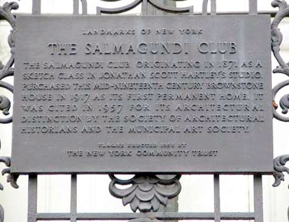 Landmarks of New York. THE SALMAGUNDI CLUB