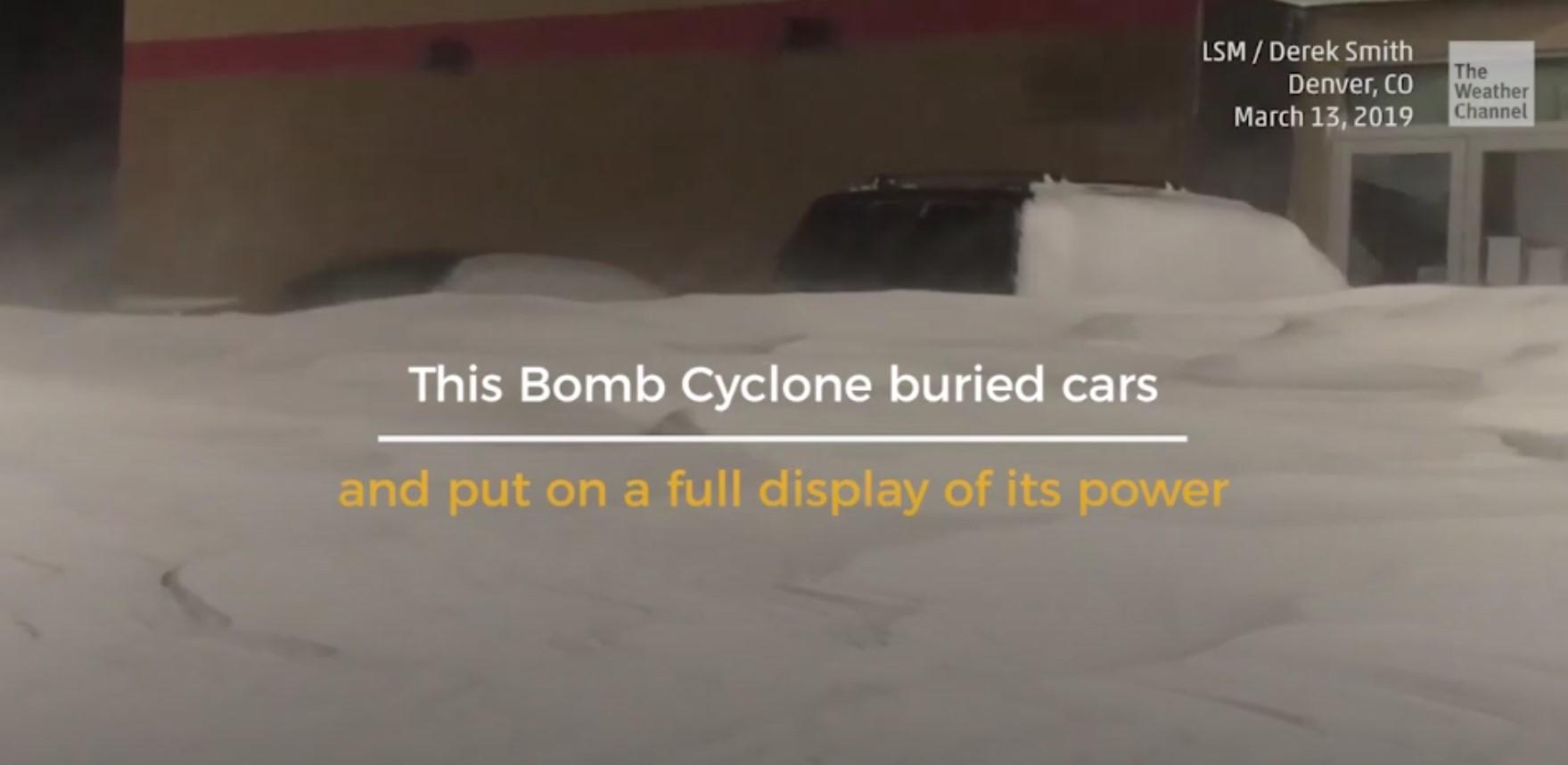 Bomb Cyclone buried cars