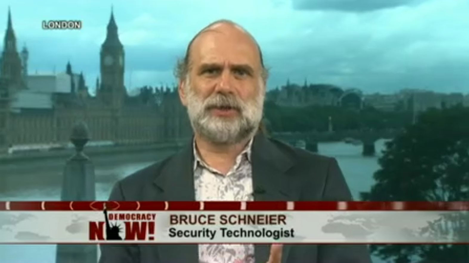 Bruce Schneier on Democarcy Now