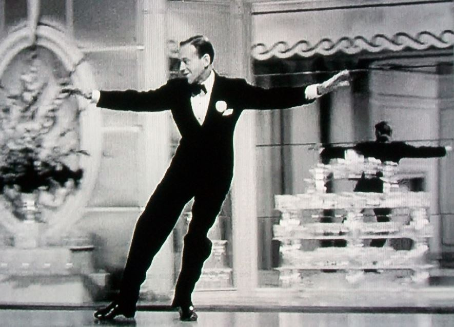 """Fred Astaire in """"The Sky's the Limit"""" performing  One More For My Baby (and One More For The Road)"""