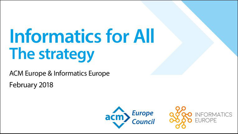 Cover: Informatics for All - The Strategy