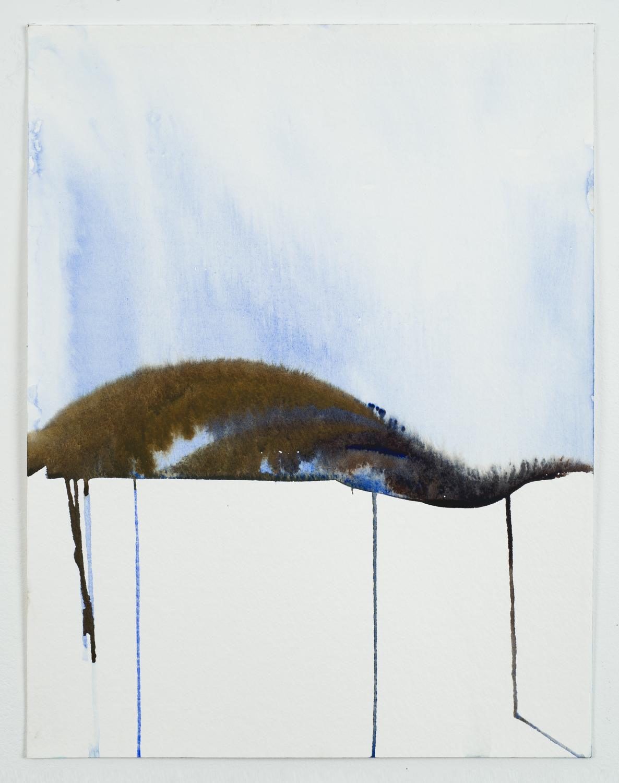 Melting Landscapes 45, watercolor on paper, 2017