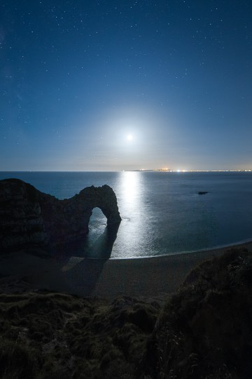 Moonlight shimmering in the English Channel