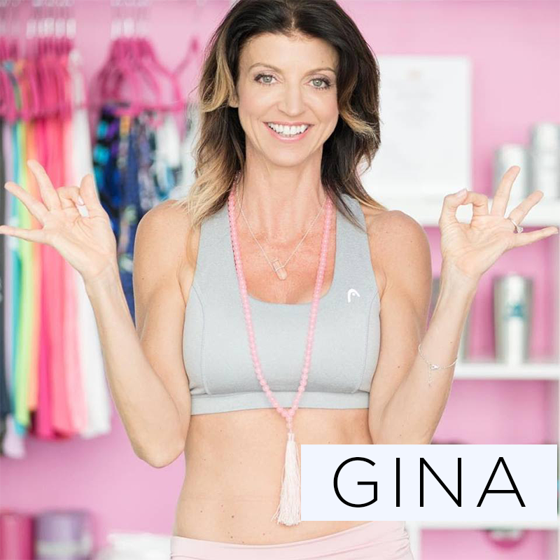 """Gina fell in love with yoga in an Ashtanga class in South Florida circa 1999. """"I was the worse one in the class. The instructor could not believe how inflexible I was."""" That motivated her to delve deeper. A fitness-ista (running, tennis, aerobics) yoga quickly became her favorite as she saw her body transform. """"Yoga with it's deep breathing and twists, works you inside out. Your body will function more efficiently -- the result is eating less and loving your body more."""" Gina loves working with newbies. Her classes will challenge and nurture you mentally and physically."""