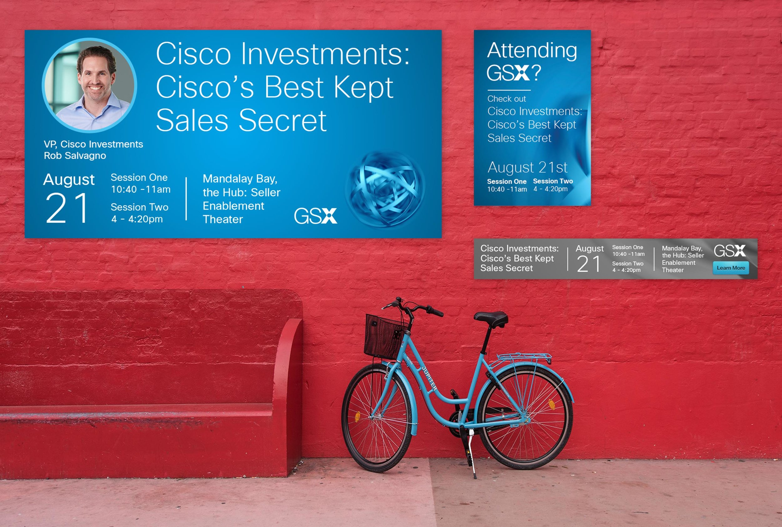 Cisco Investments GSX Advertisements