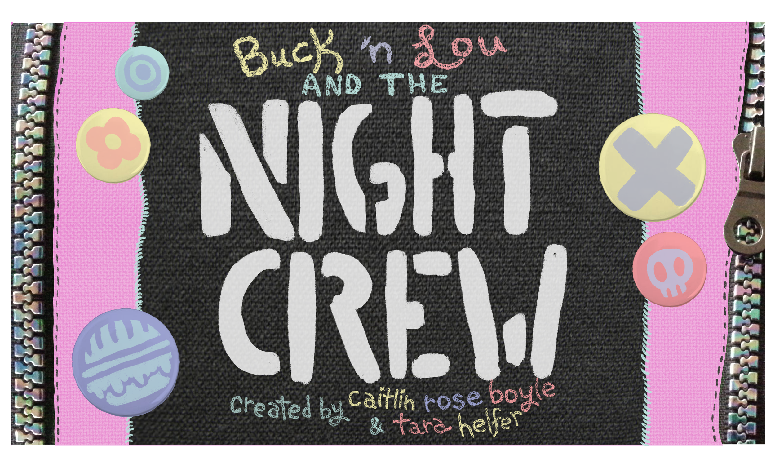Night Crew title card design by Caitlin Rose Boyle, final version by Tinman Creative Studios