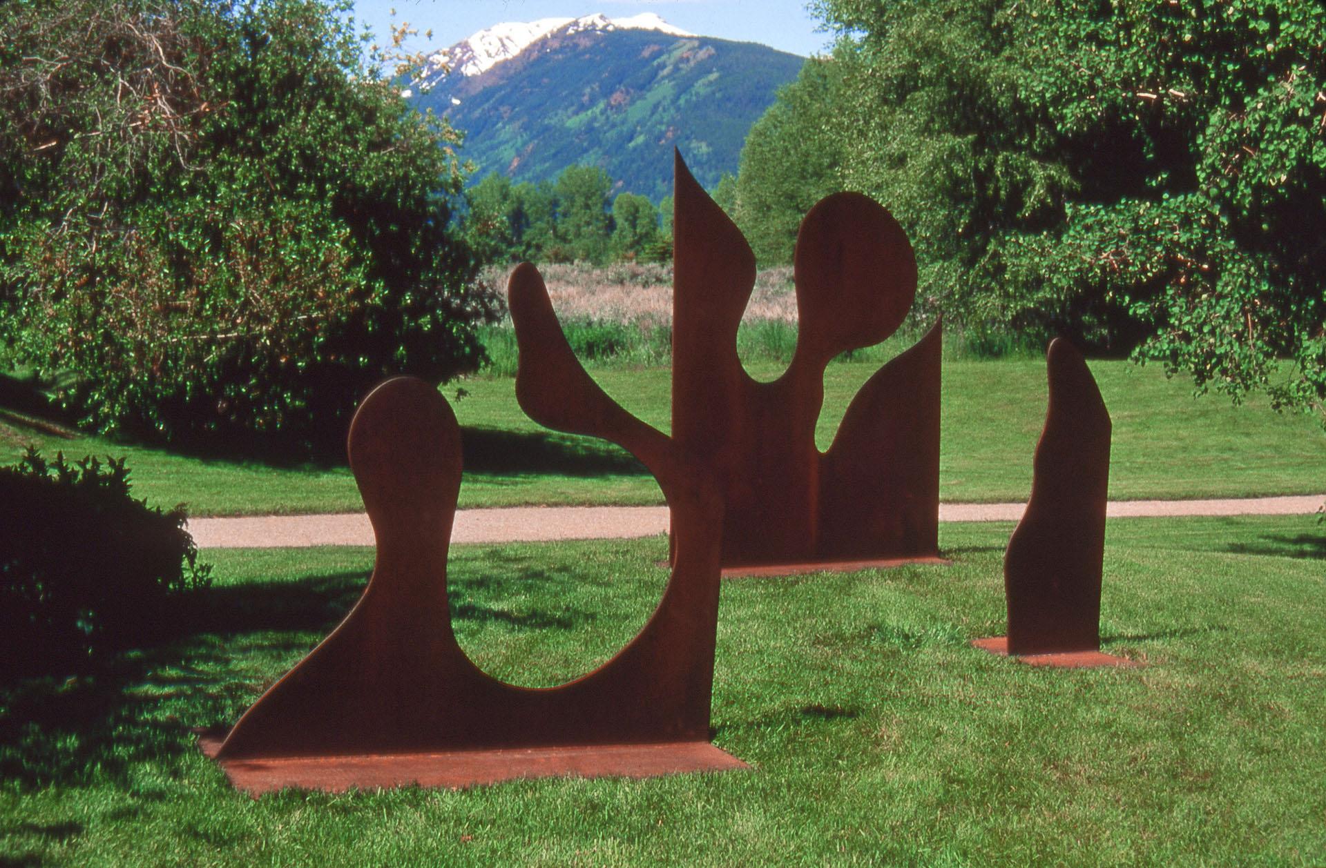 Separate but Together (Variation of Black Box II)  1990, corten steel, 5x12x8 ft  Aspen Institute Aspen, Colorado
