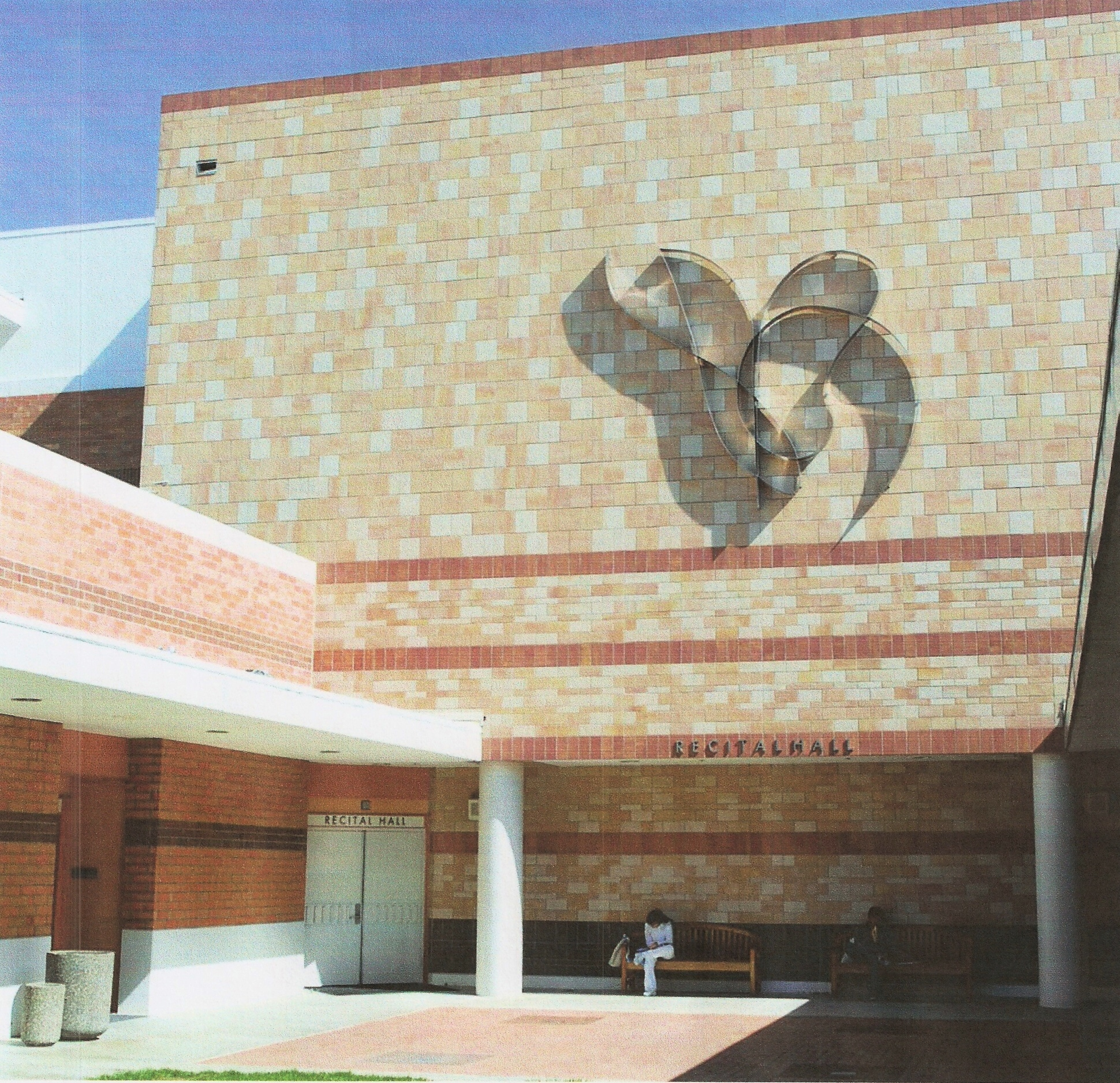 Grace  1990, stainless steel, 19x18 ft  Installed in 2009 at Mt. San Antonio Community College Walnut, California