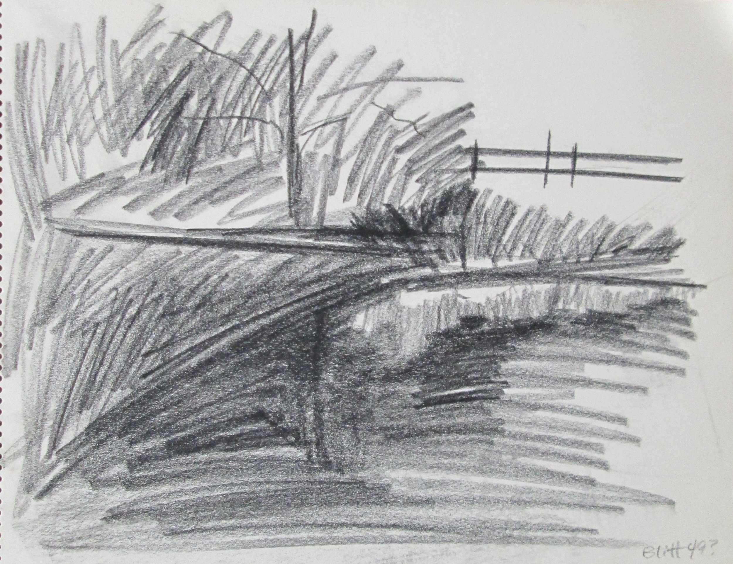 1950.0002  charcoal on paper, 11x14 inches