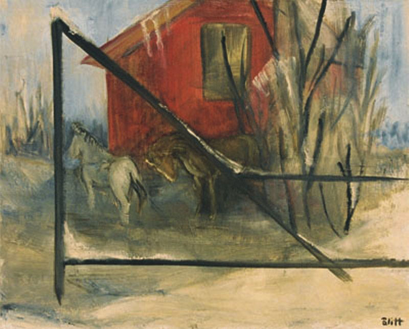 Red Barn  1958, oil on canvas, 24x36 in